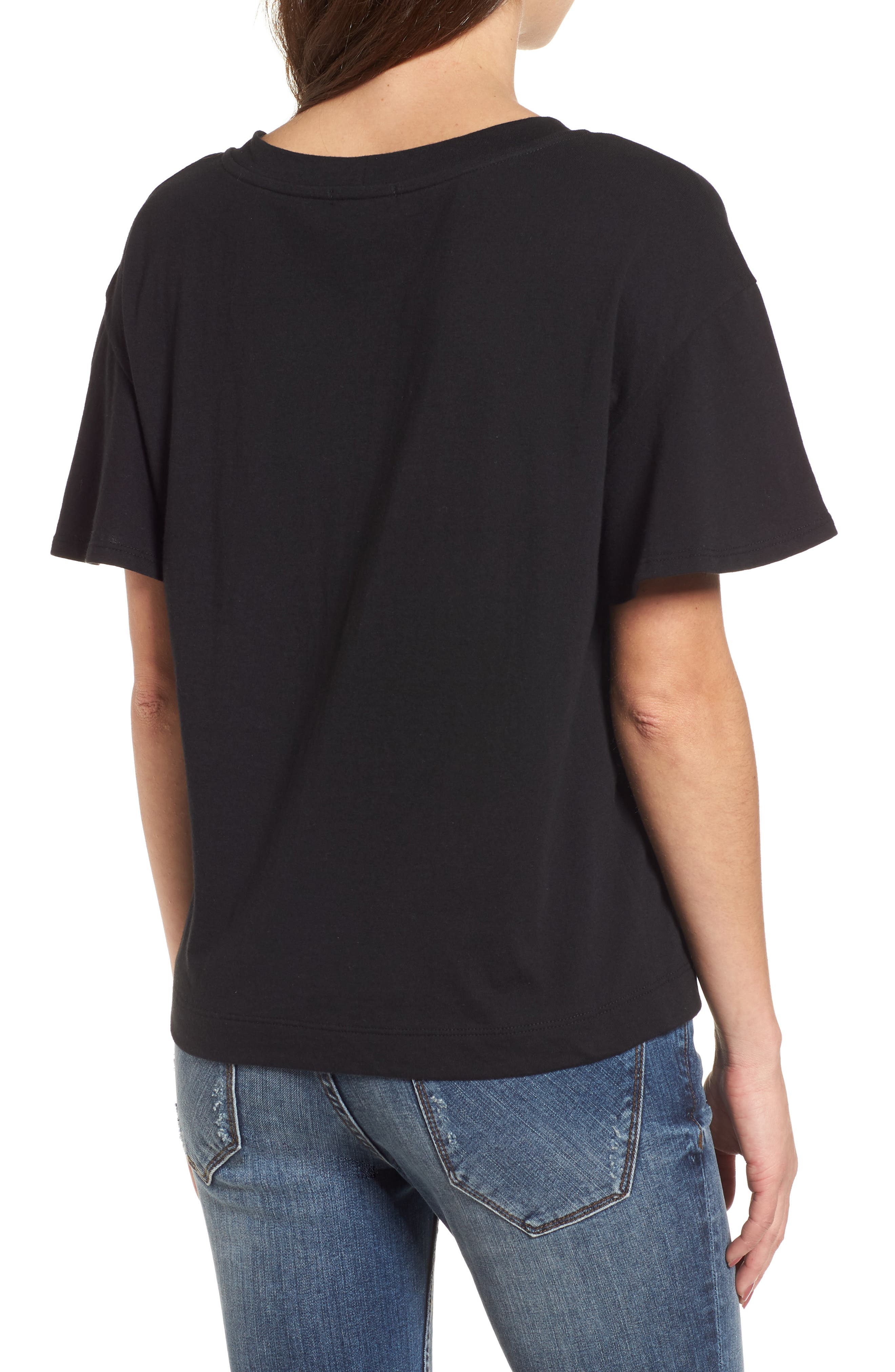 Flutter Sleeve Tee,                             Alternate thumbnail 4, color,