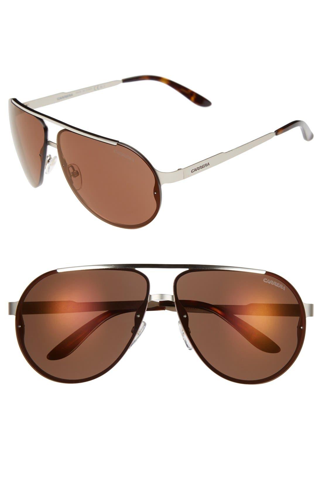 65mm Aviator Sunglasses,                             Main thumbnail 1, color,