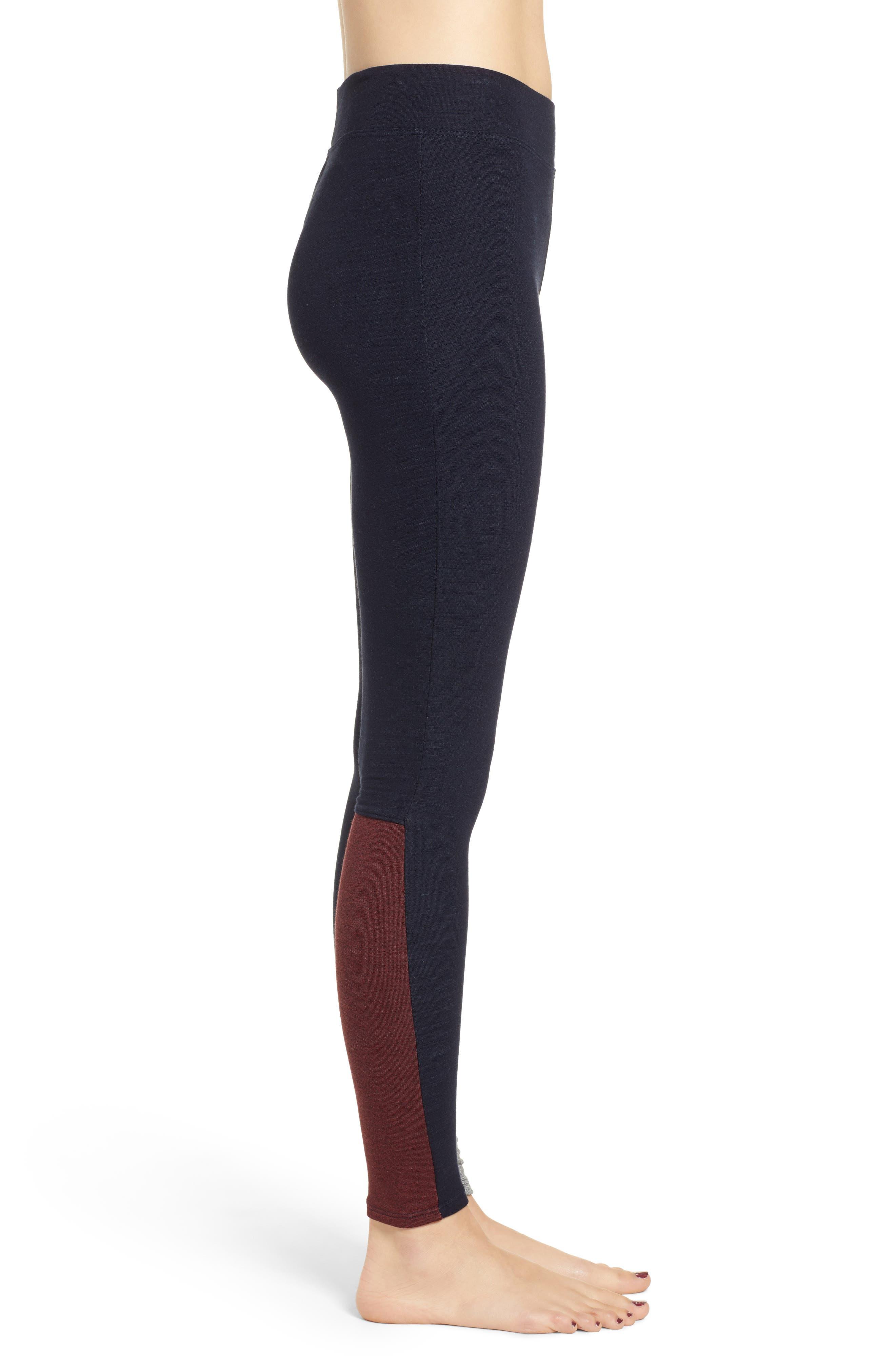 Colorblock Surprise Yoga Pants,                             Alternate thumbnail 3, color,                             436
