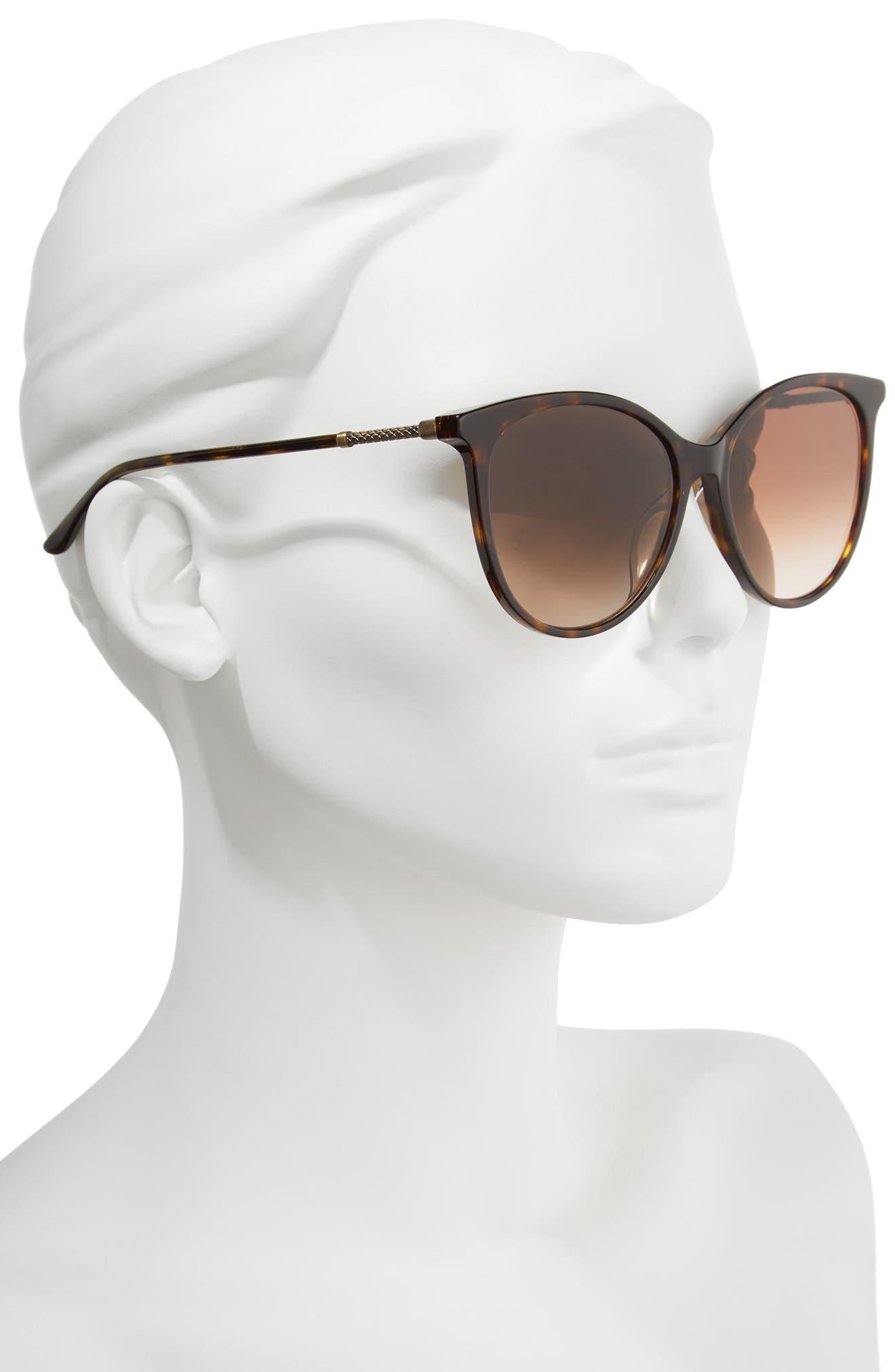 57mm Cat Eye Sunglasses,                             Alternate thumbnail 6, color,