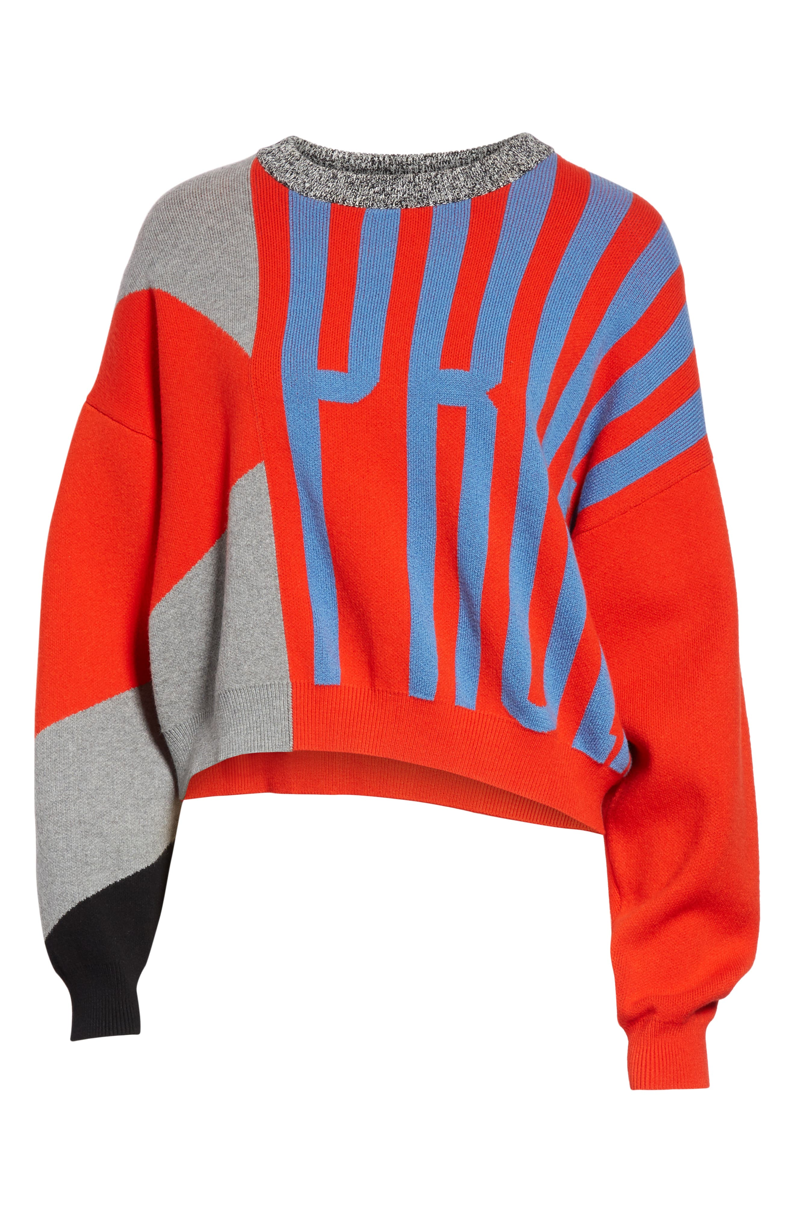 PSWL Graphic Logo Sweater,                             Alternate thumbnail 6, color,                             BRIGHT RED COMBO