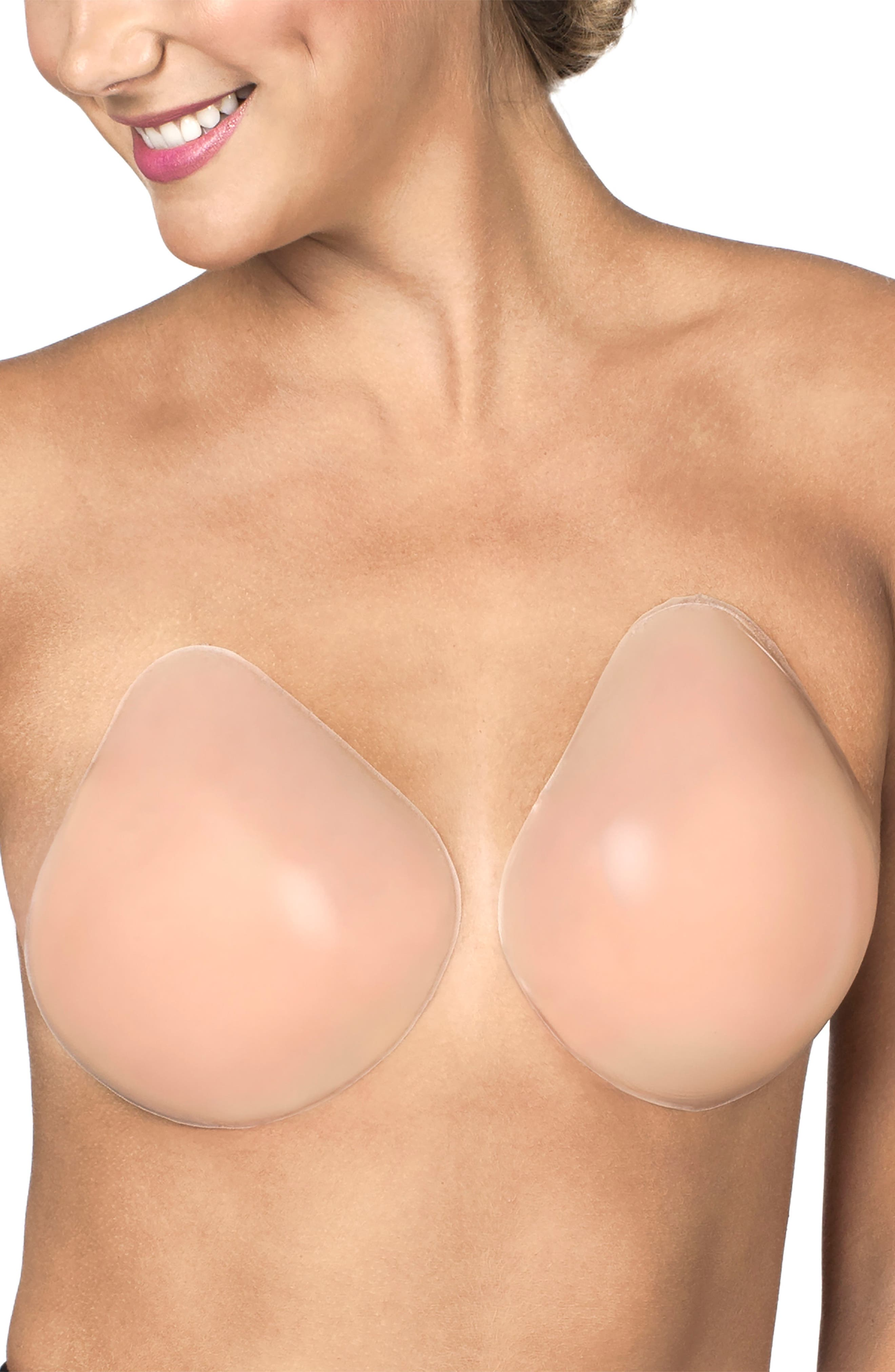NORDSTROM LINGERIE,                             Lift It Up Adhesive Silicone Bra,                             Main thumbnail 1, color,                             NUDE