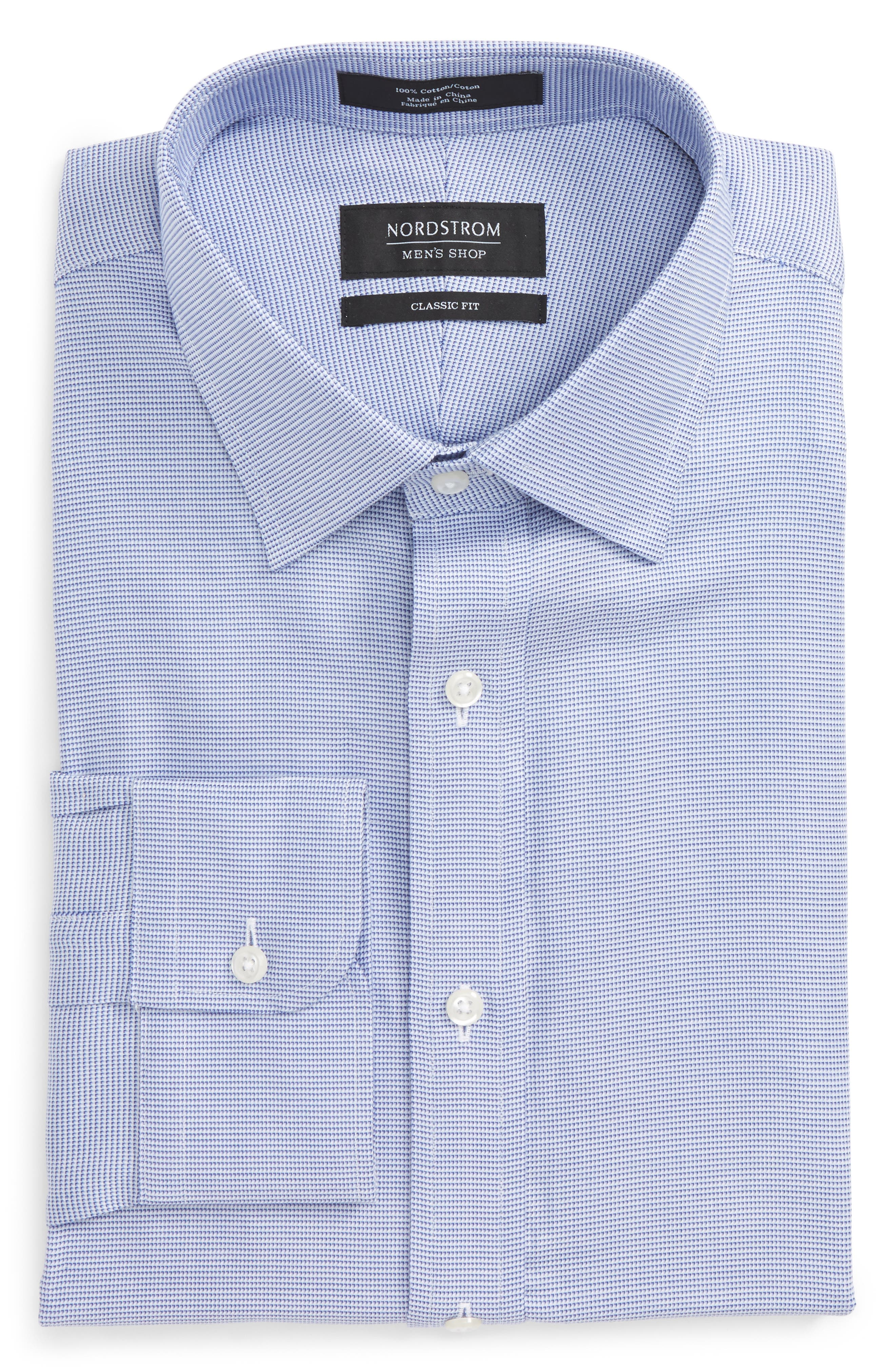 Classic Fit Solid Dress Shirt,                         Main,                         color, 420