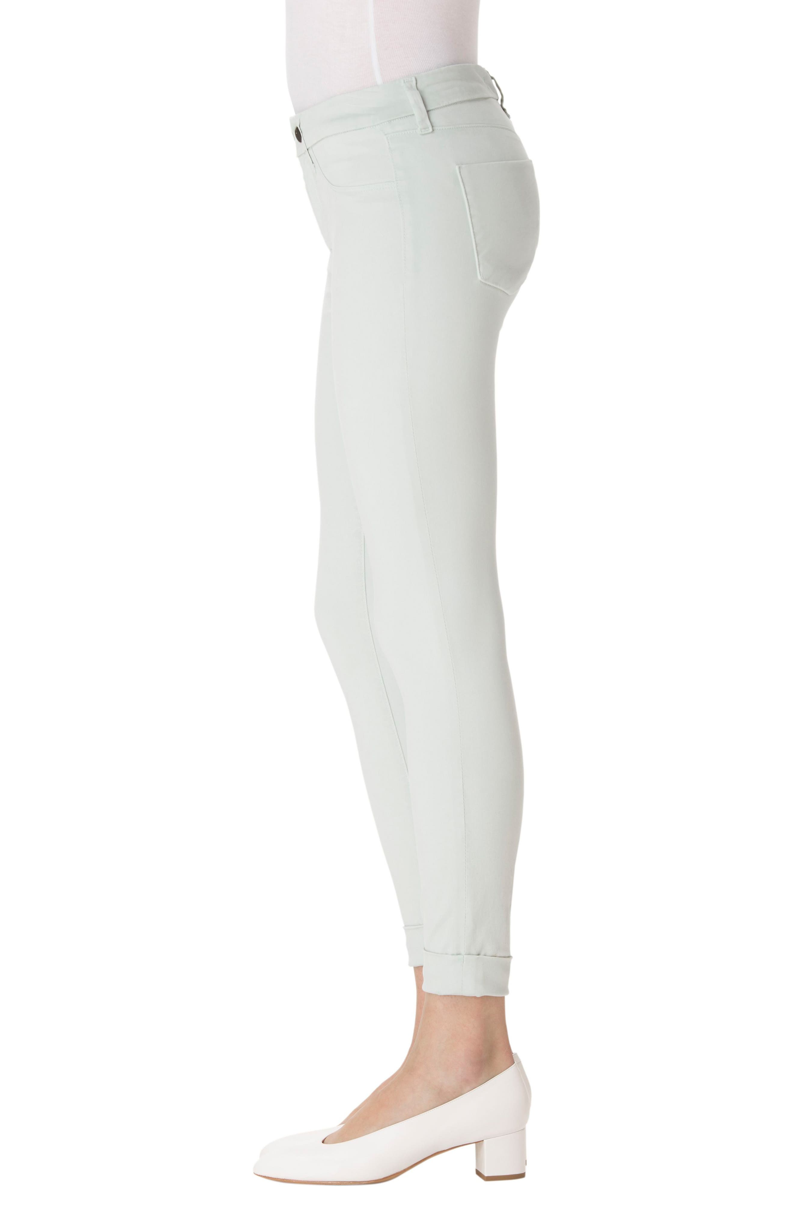 'Anja' Cuffed Crop Skinny Jeans,                             Alternate thumbnail 17, color,