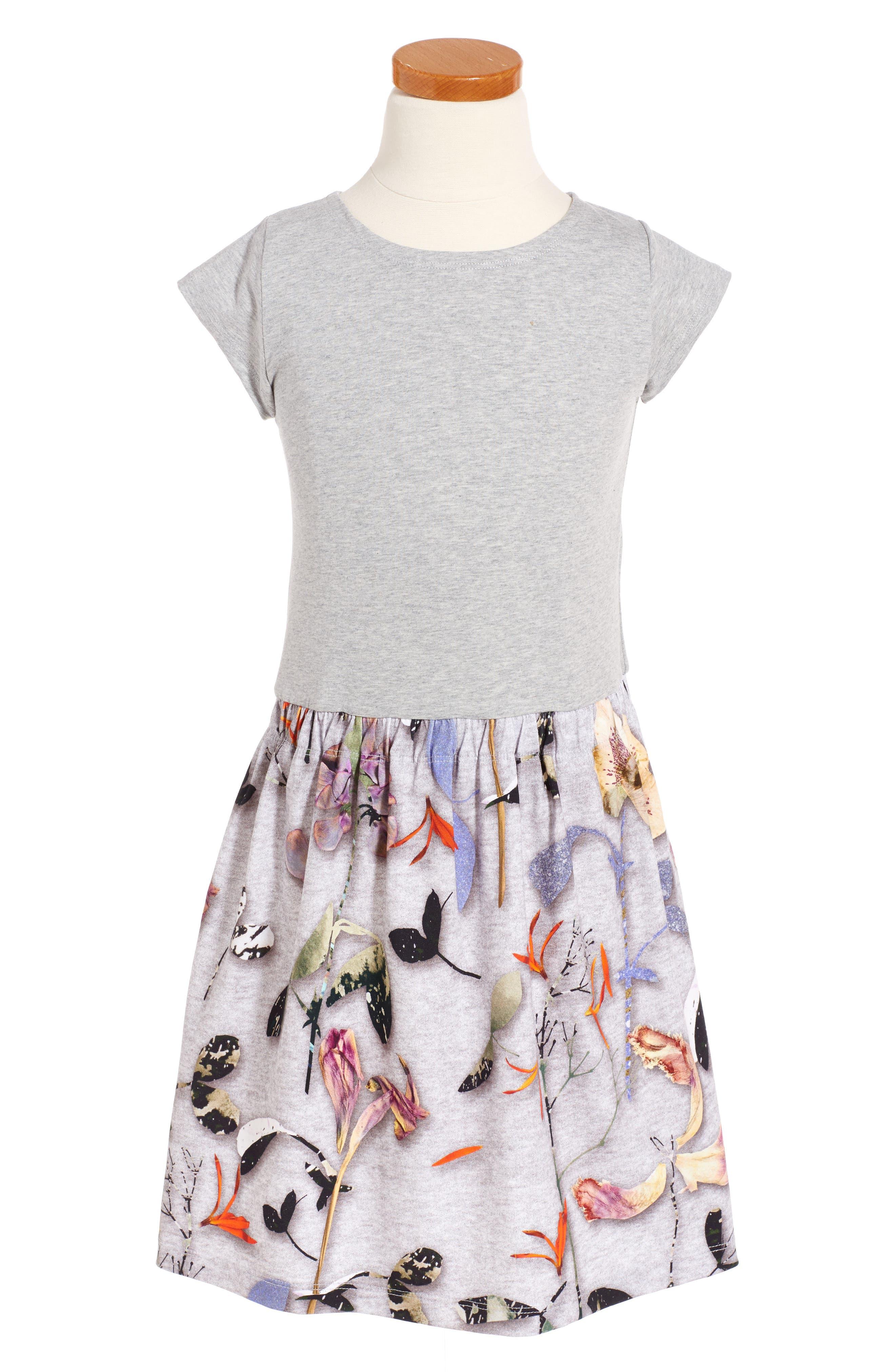 Carla Print Jersey Dress,                             Alternate thumbnail 5, color,