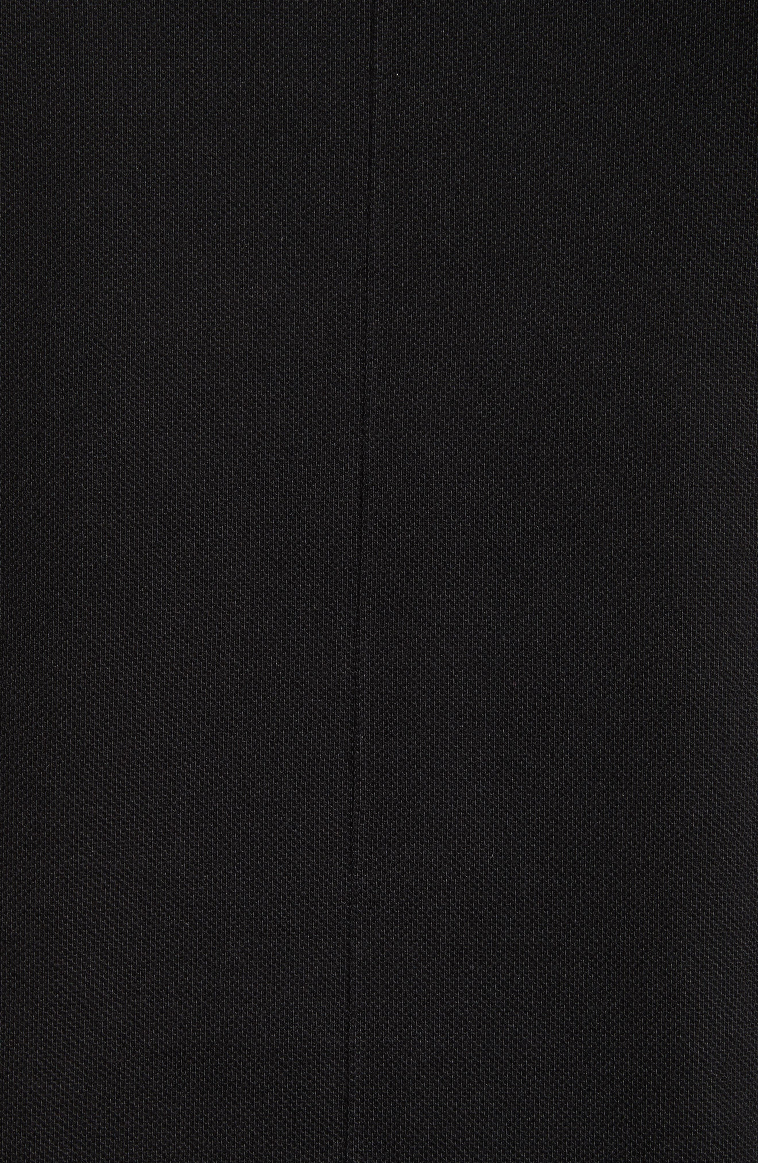 Cuban Fit Stripe Sleeve Polo,                             Alternate thumbnail 5, color,                             001