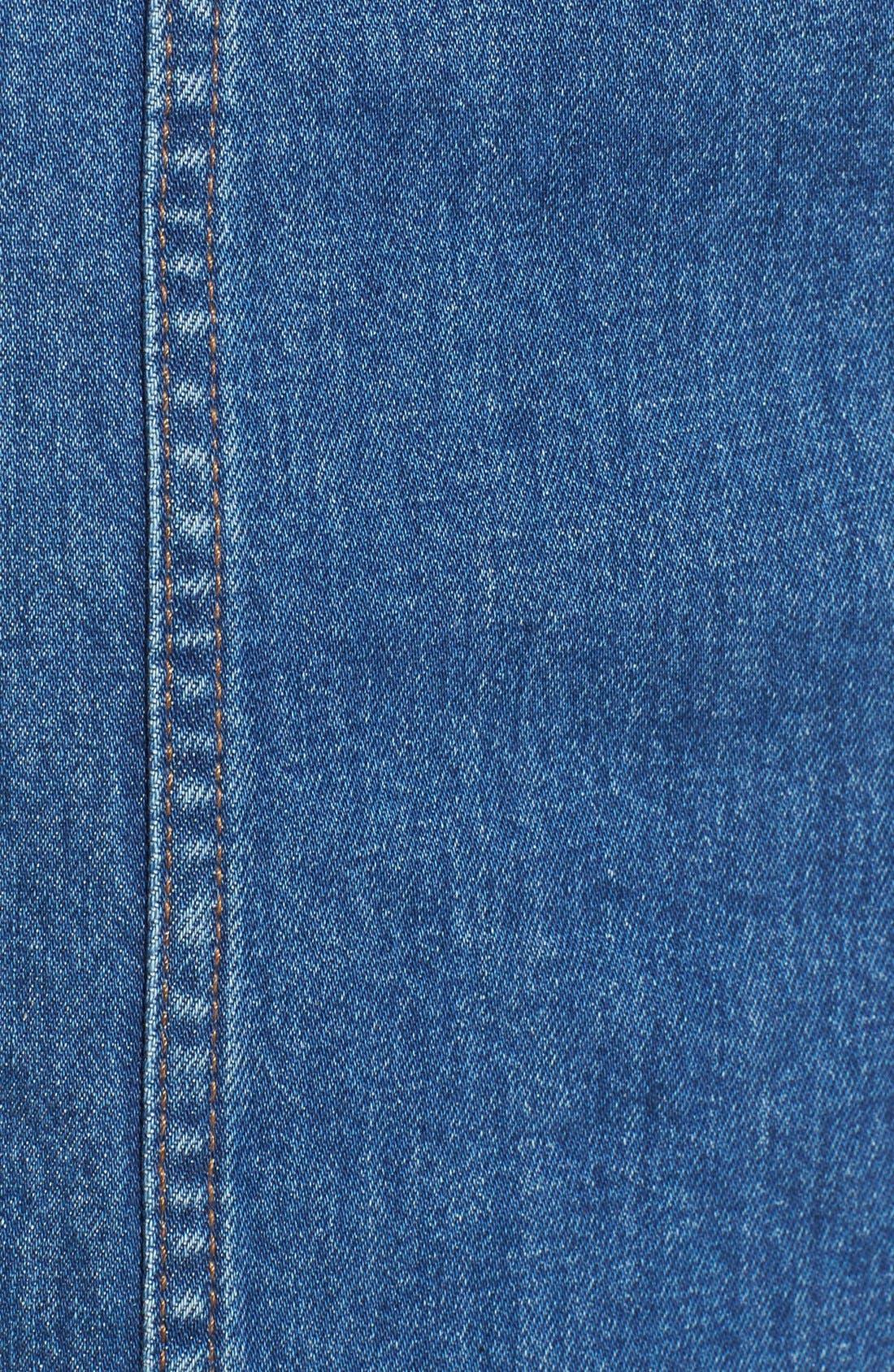 'Dungaree' Denim Midi Dress,                             Alternate thumbnail 3, color,                             400
