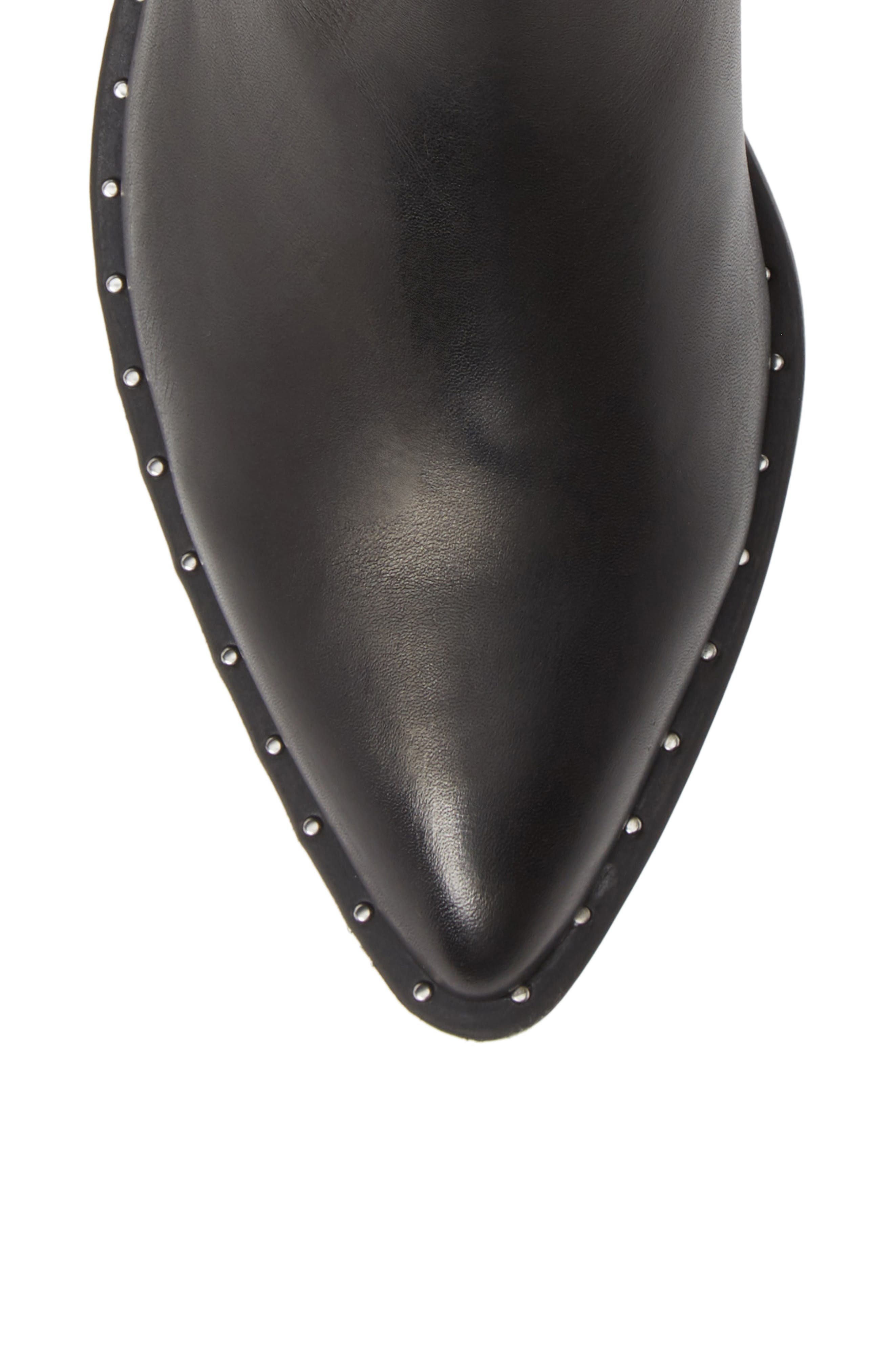 Juke Bootie,                             Alternate thumbnail 5, color,                             BLACK LEATHER