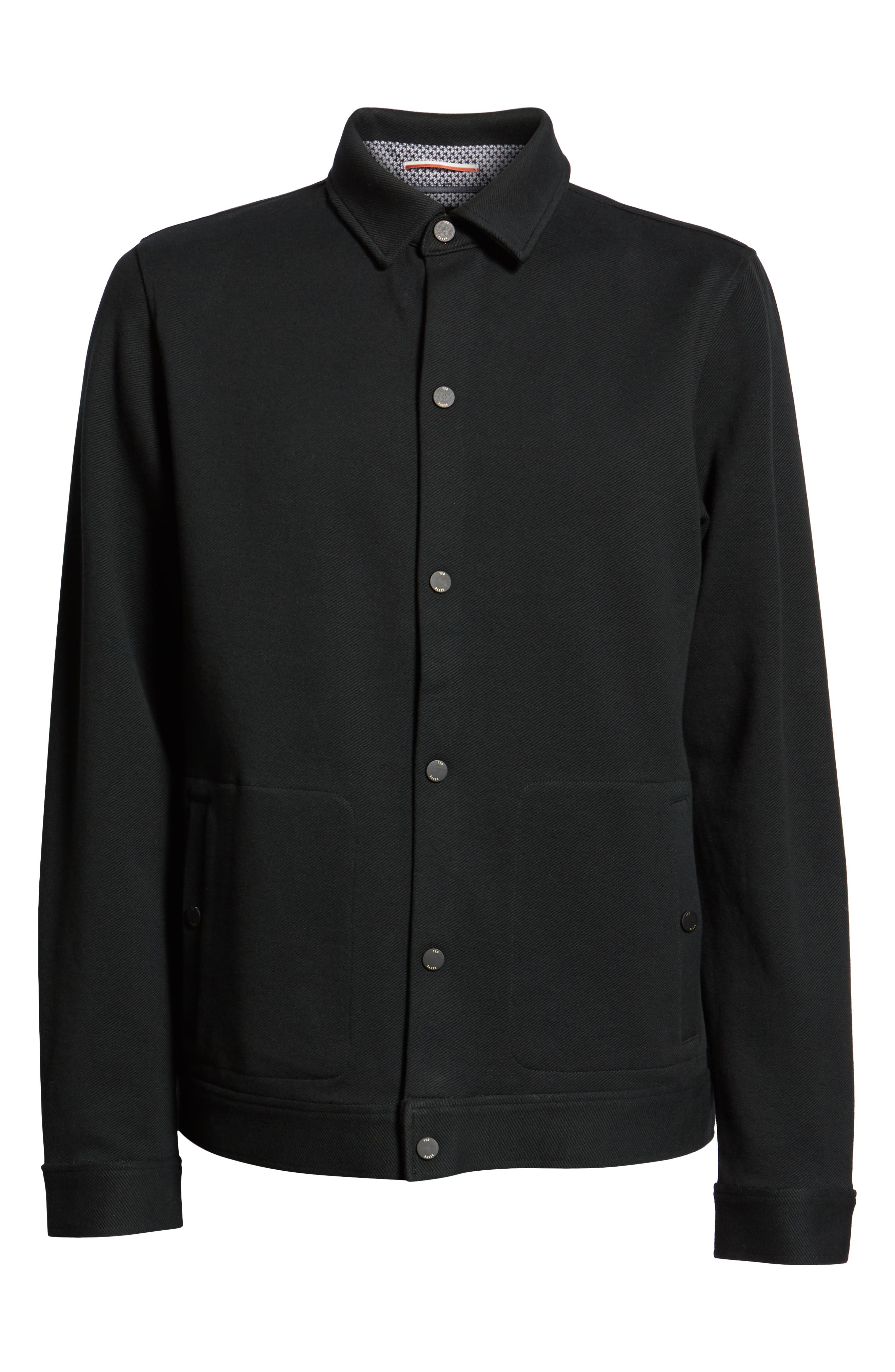Danett Tall Twill Jacket,                             Alternate thumbnail 5, color,                             BLACK