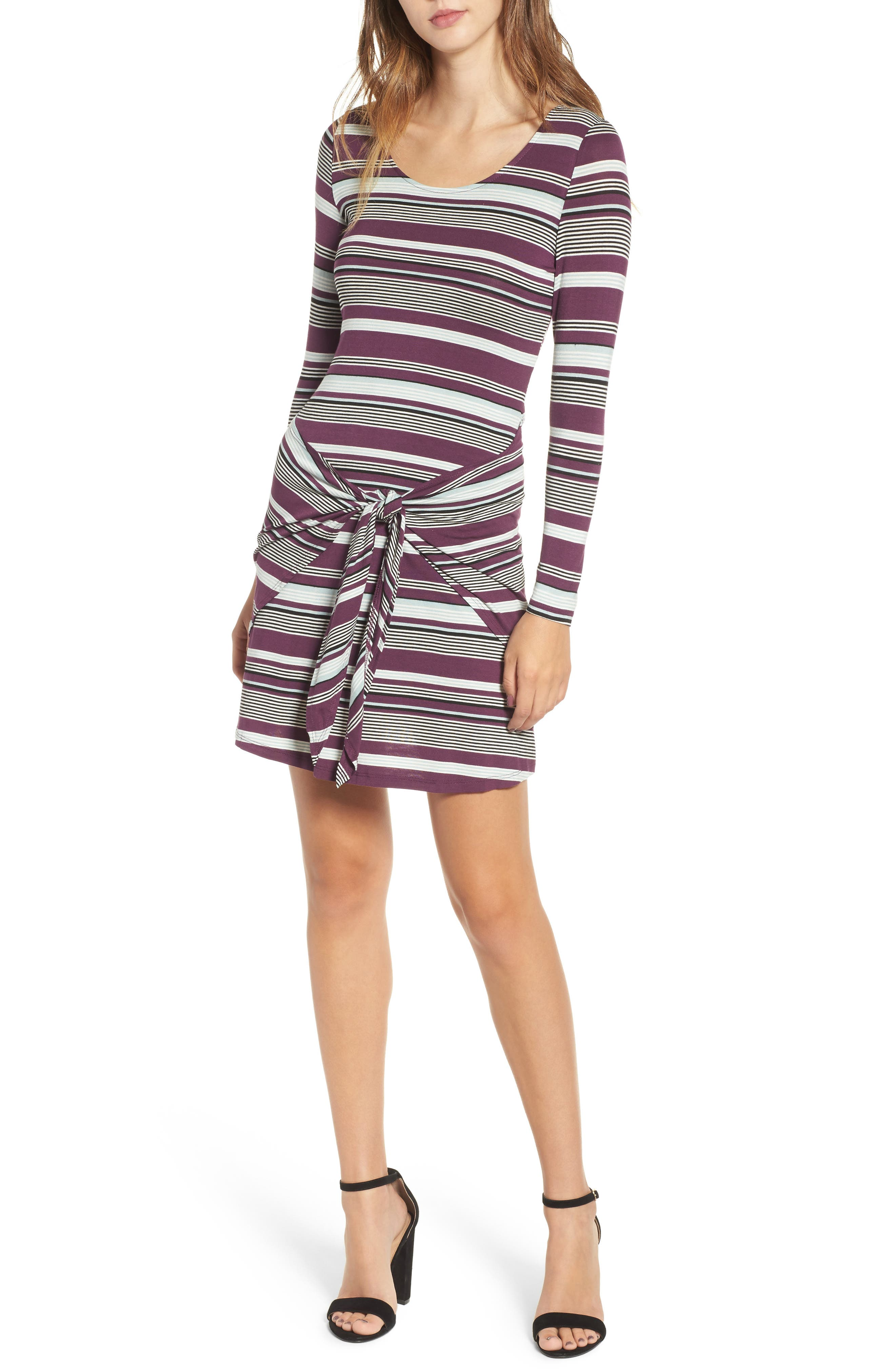 Tie Waist Dress,                             Main thumbnail 2, color,