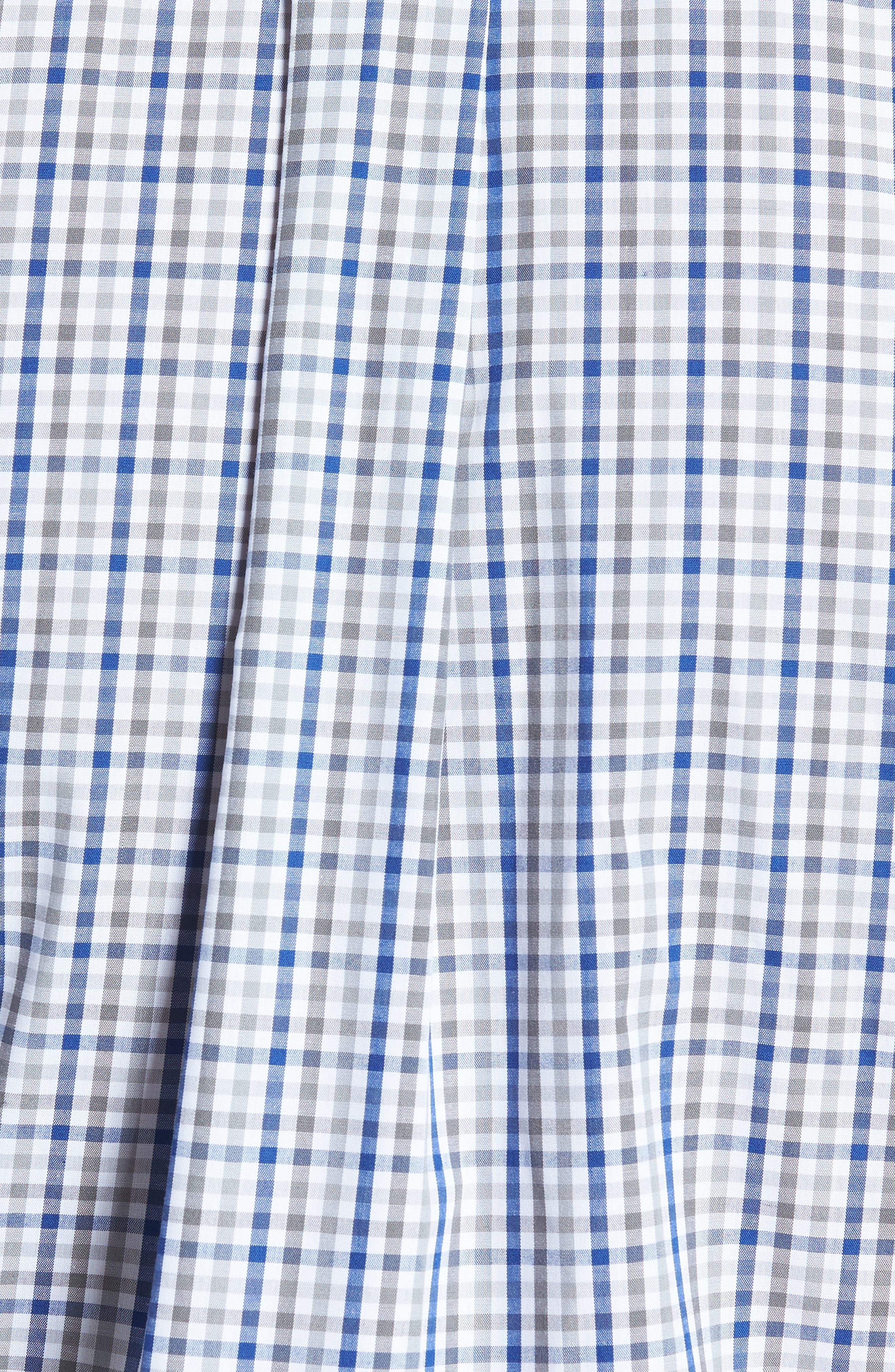 Buffalo Bills - Gilman Regular Fit Plaid Sport Shirt,                             Alternate thumbnail 5, color,                             TOUR BLUE
