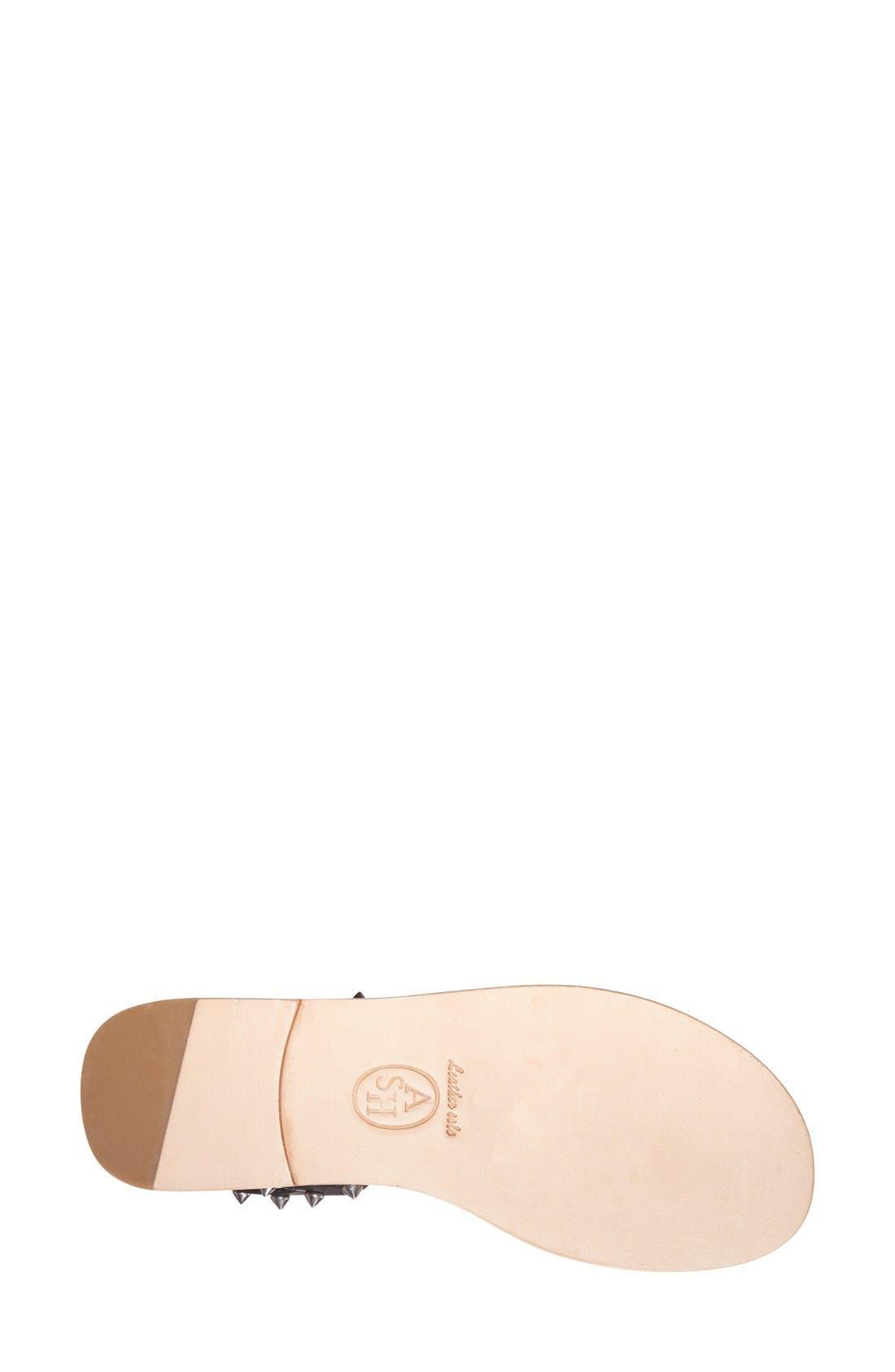 'Pearl' Studded Leather Sandal,                             Alternate thumbnail 2, color,                             001