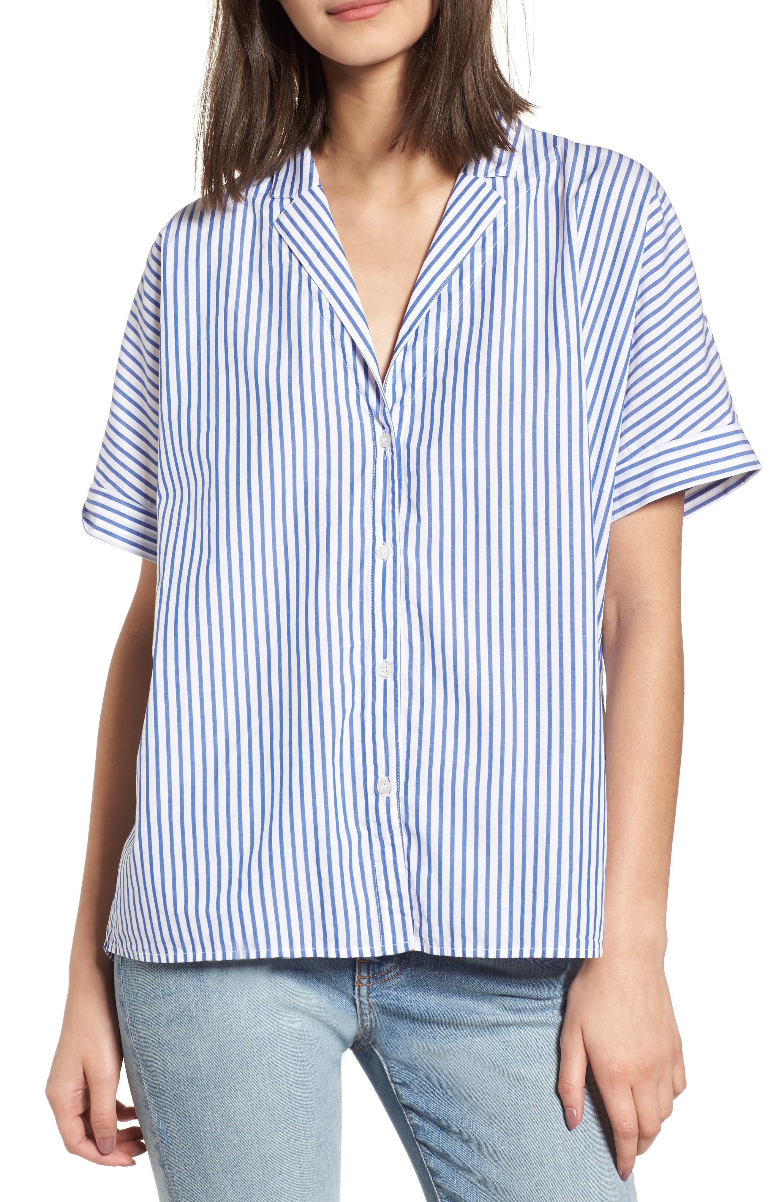 Stripe Oxford Shirt,                             Main thumbnail 1, color,                             422