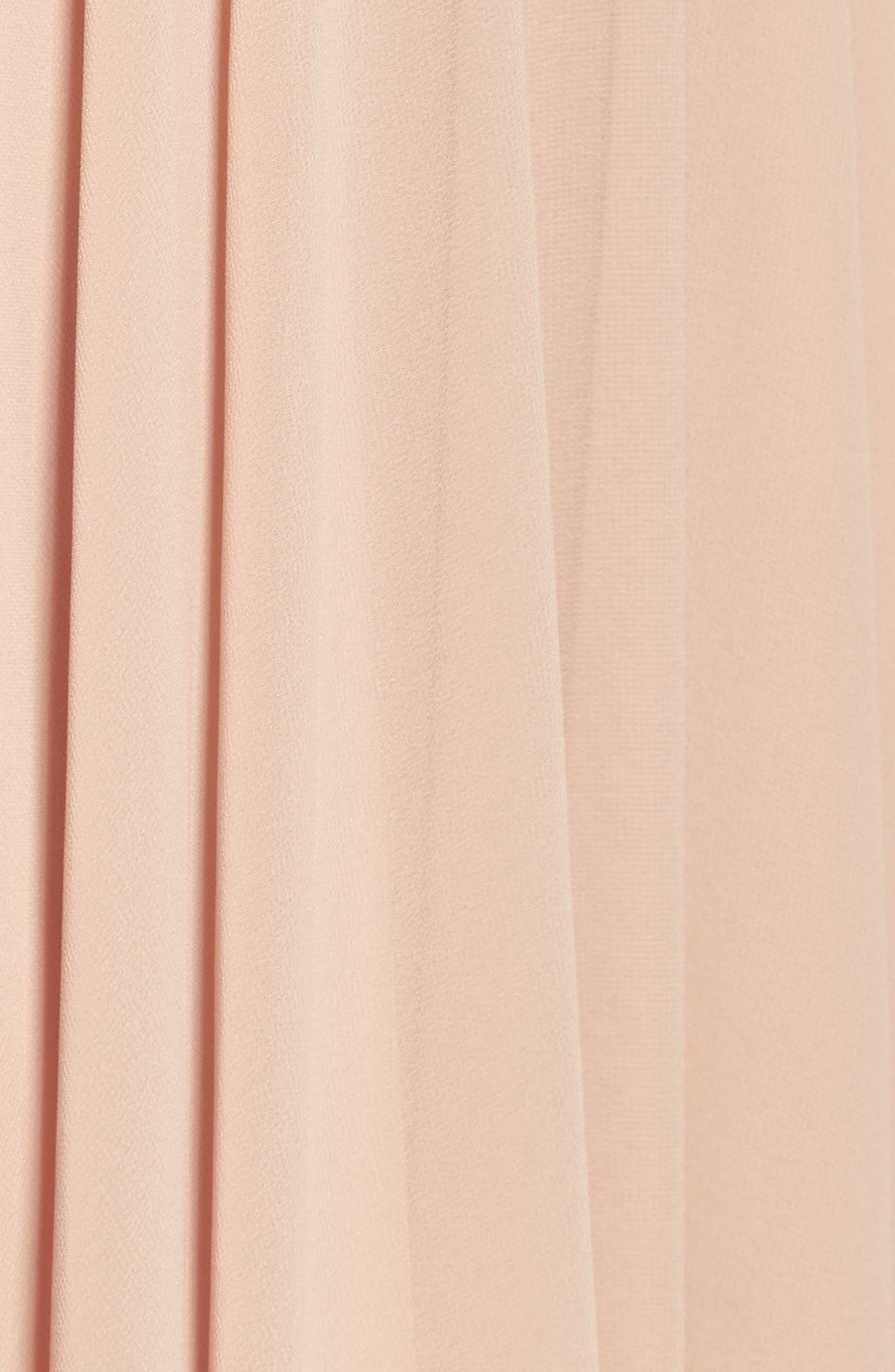 Adeline Strapless Chiffon Gown,                             Alternate thumbnail 5, color,                             DESERT ROSE