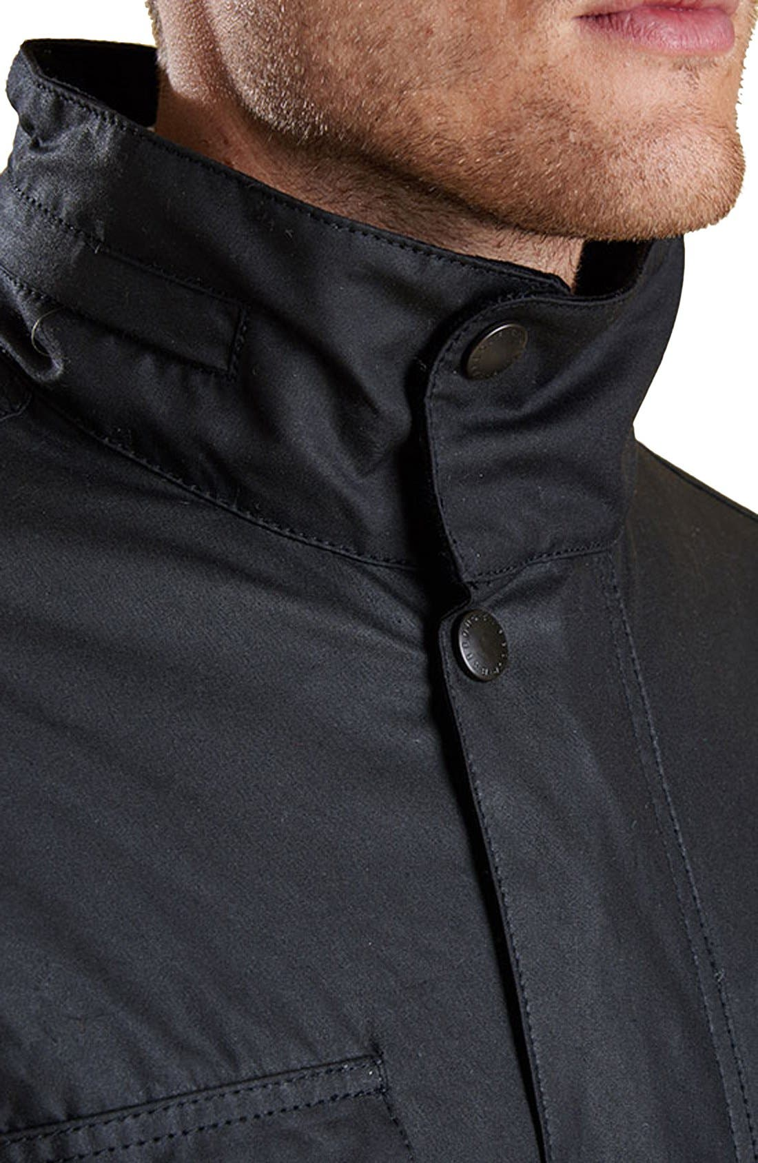 'Sapper' Weatherproof Waxed Relaxed Fit Jacket,                             Alternate thumbnail 3, color,                             001