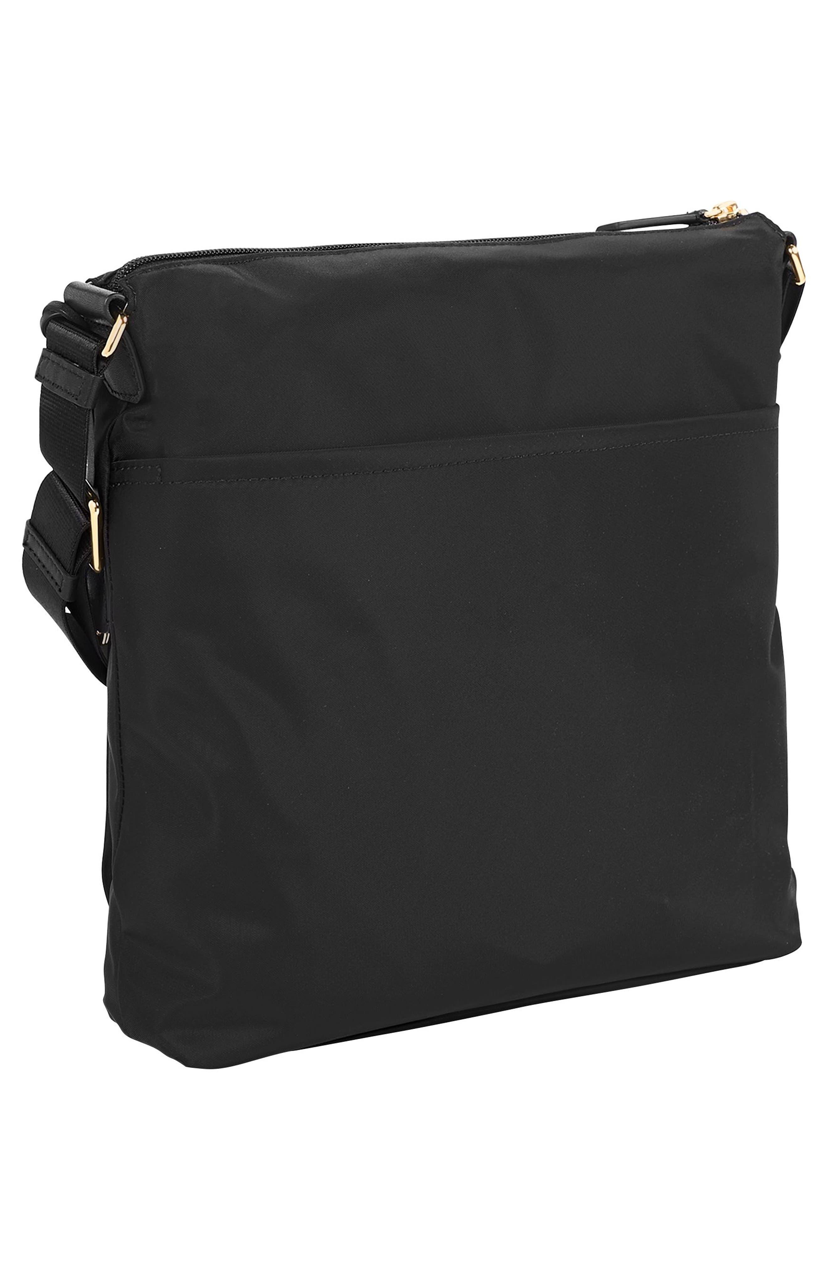 Voyageur - Canton Nylon Crossbody Bag,                             Alternate thumbnail 3, color,                             BLACK
