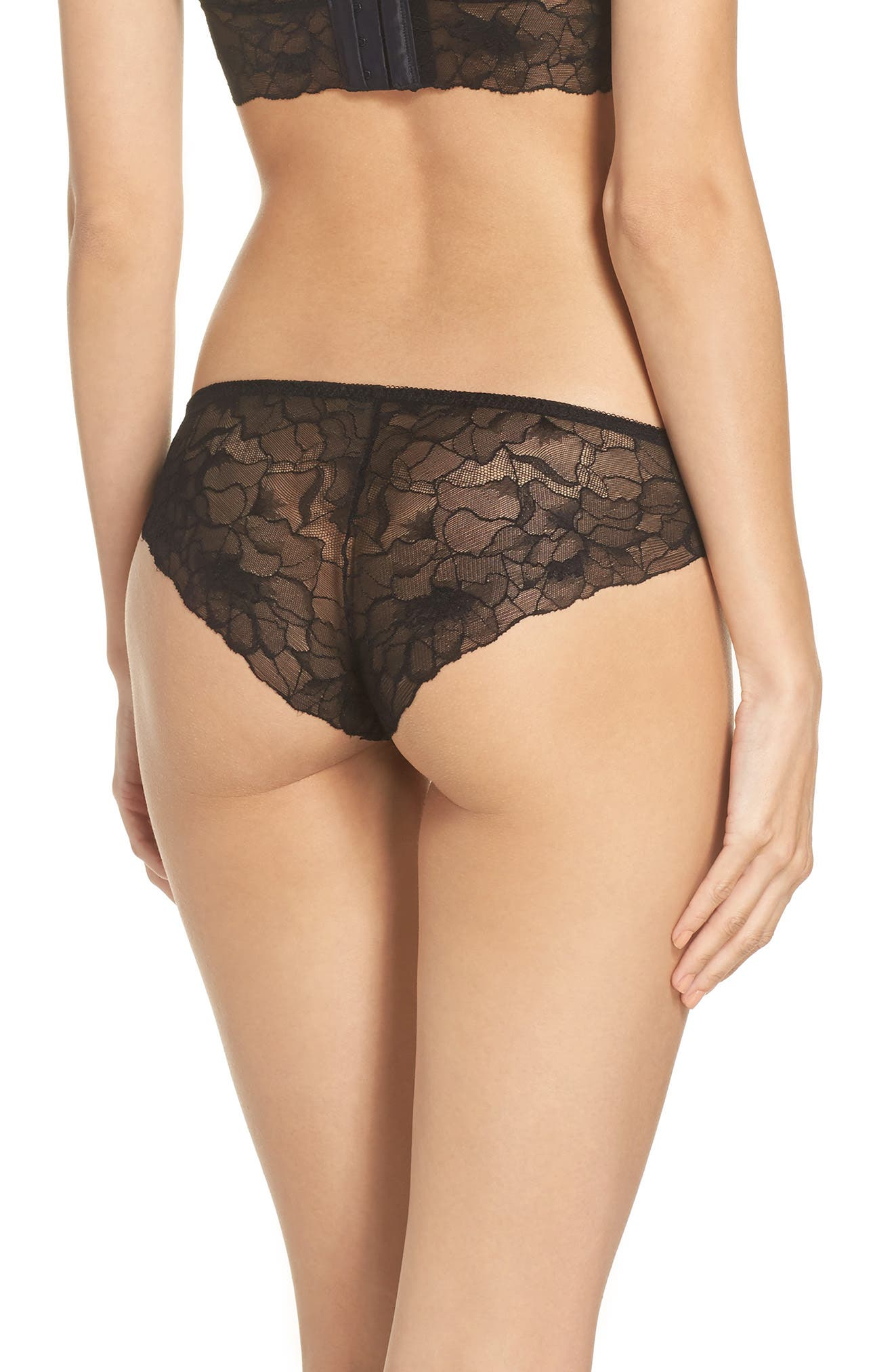All Lace Glamour Panties,                             Alternate thumbnail 2, color,                             BLACK