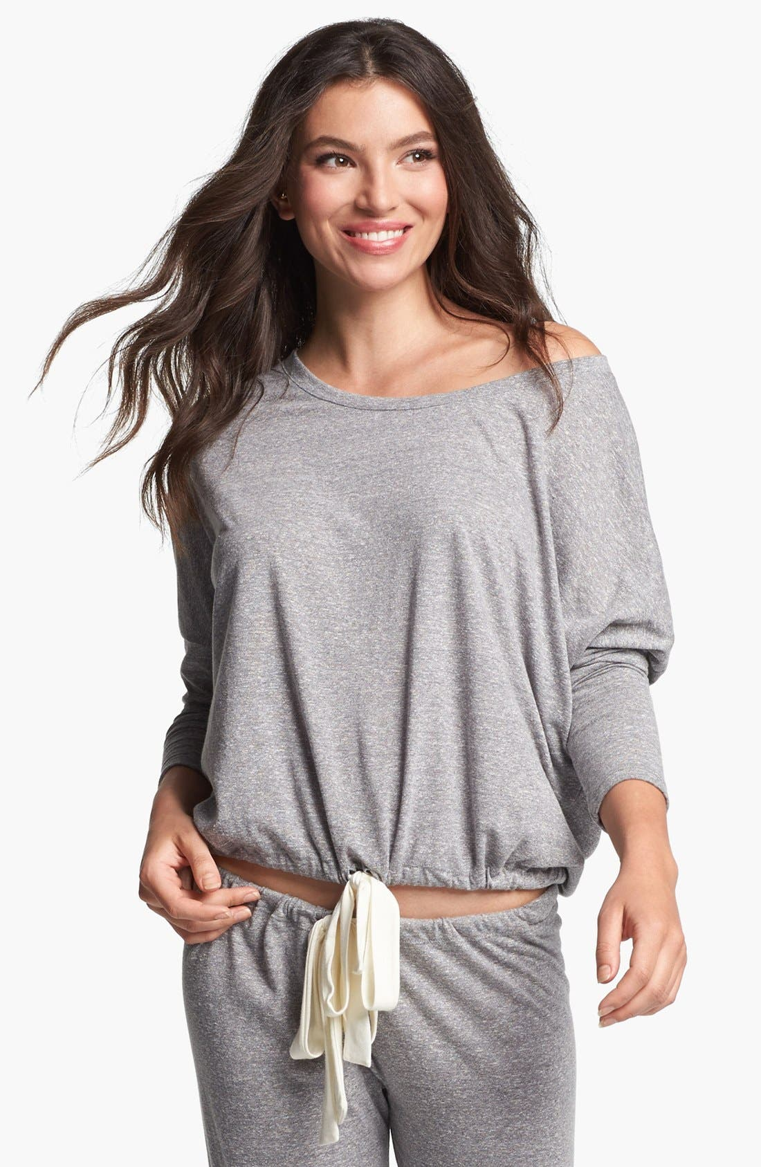 Heather Knit Slouchy Tee,                             Main thumbnail 1, color,                             020