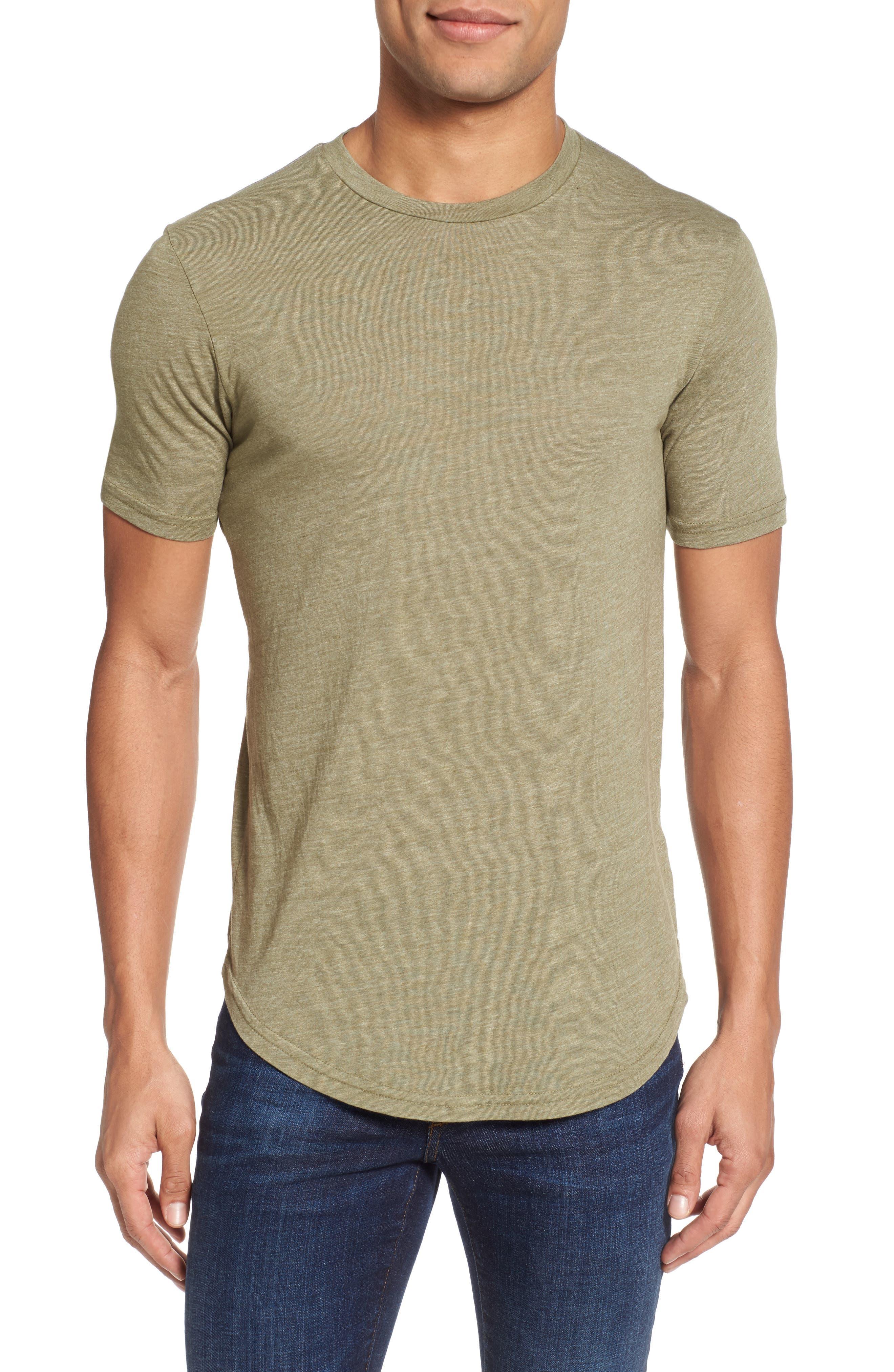 Scallop Triblend Crewneck T-Shirt,                             Main thumbnail 4, color,