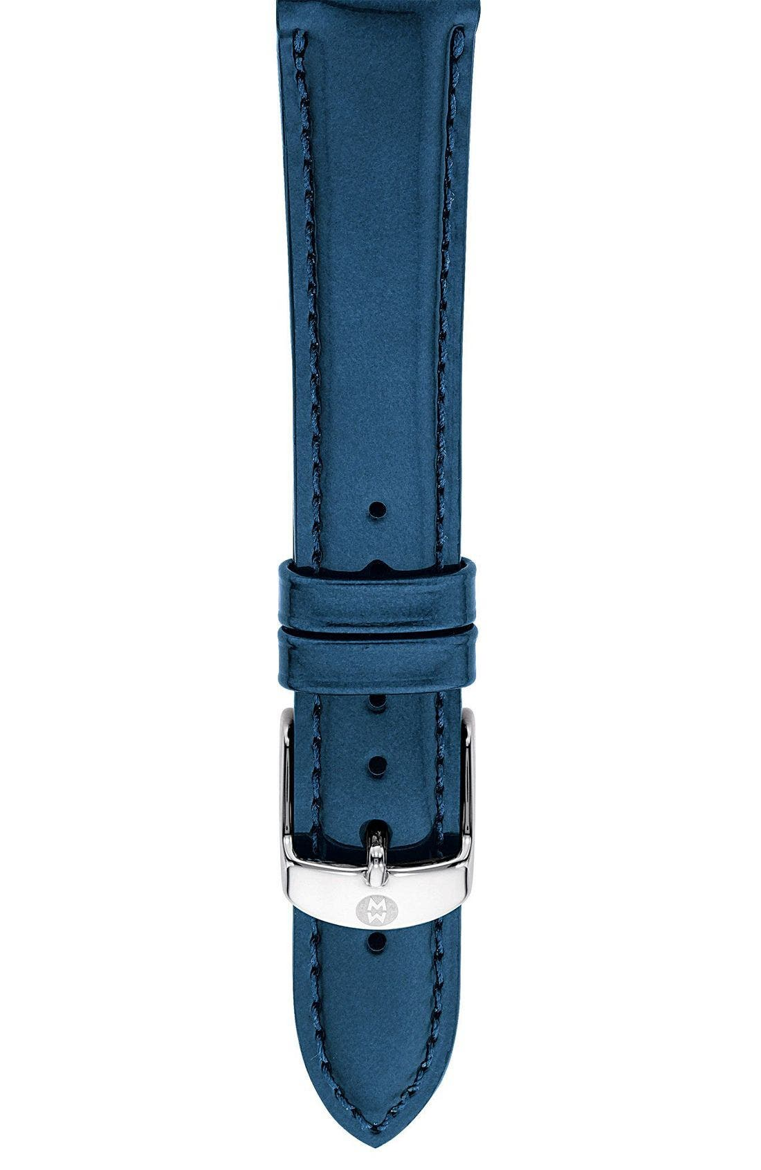 16mm Patent Leather Watch Strap,                             Main thumbnail 1, color,                             400