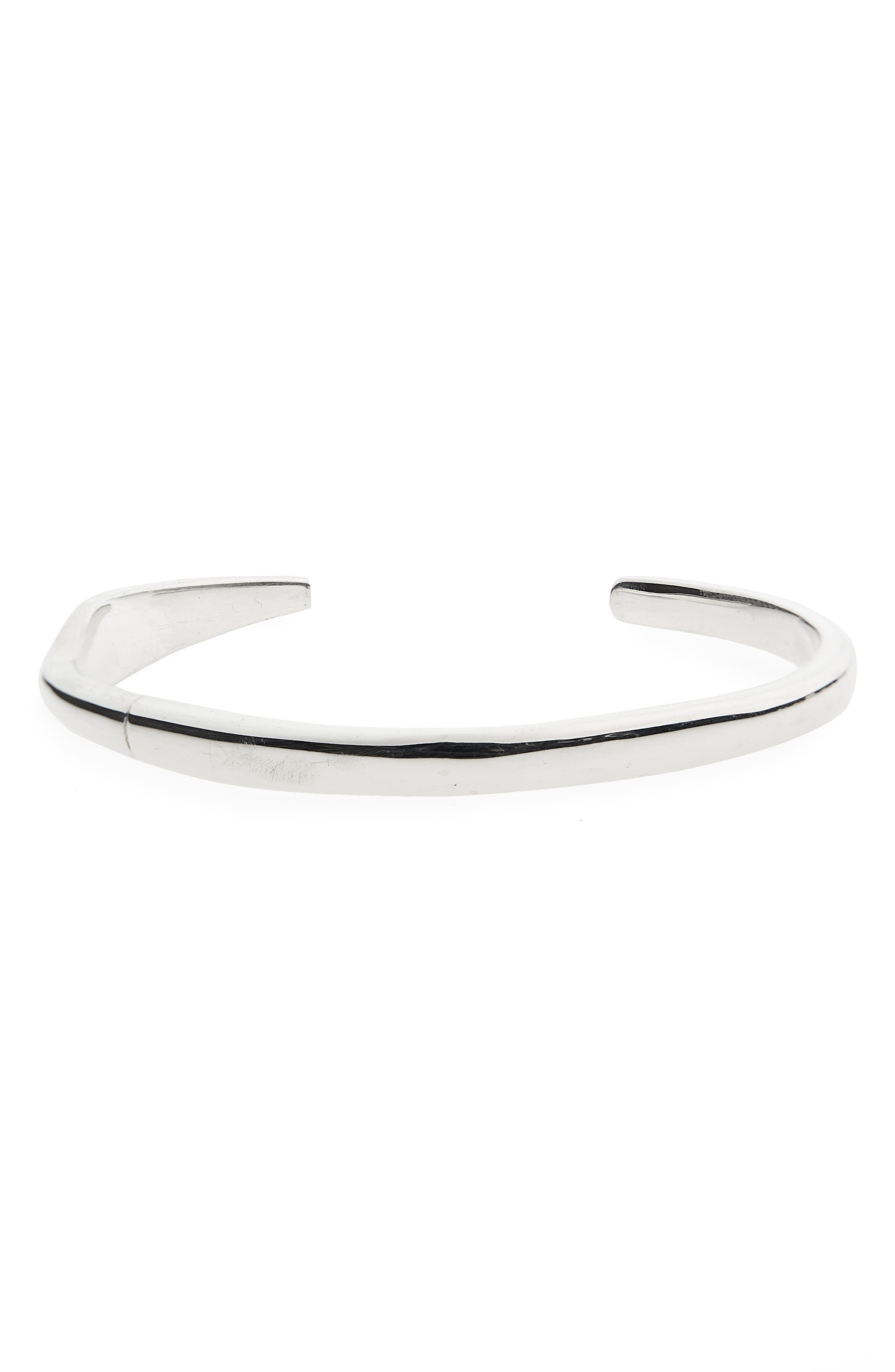 Fortitude Cuff Bracelet,                             Main thumbnail 1, color,                             SILVER