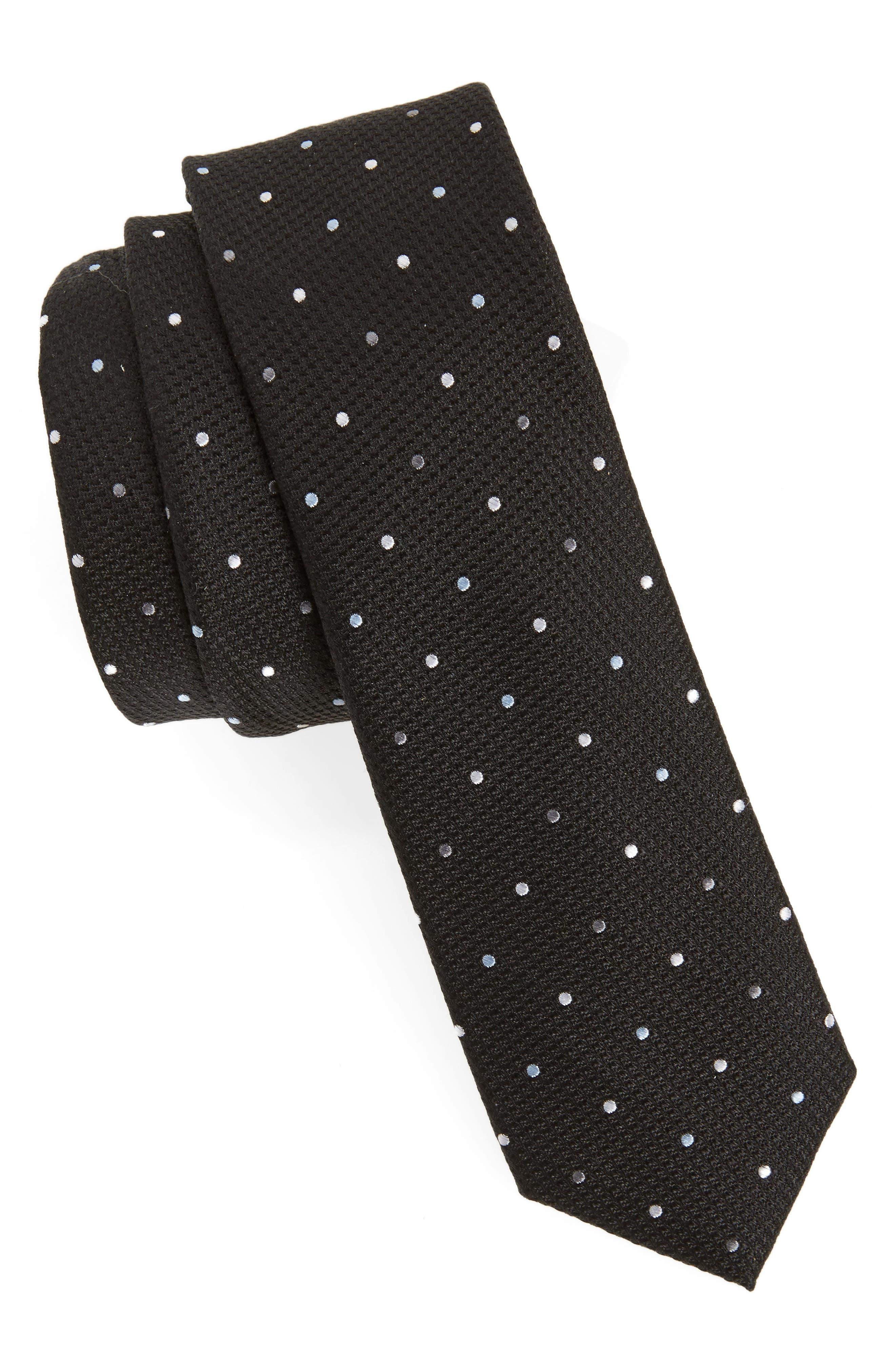 Dot Silk Tie,                         Main,                         color, 001