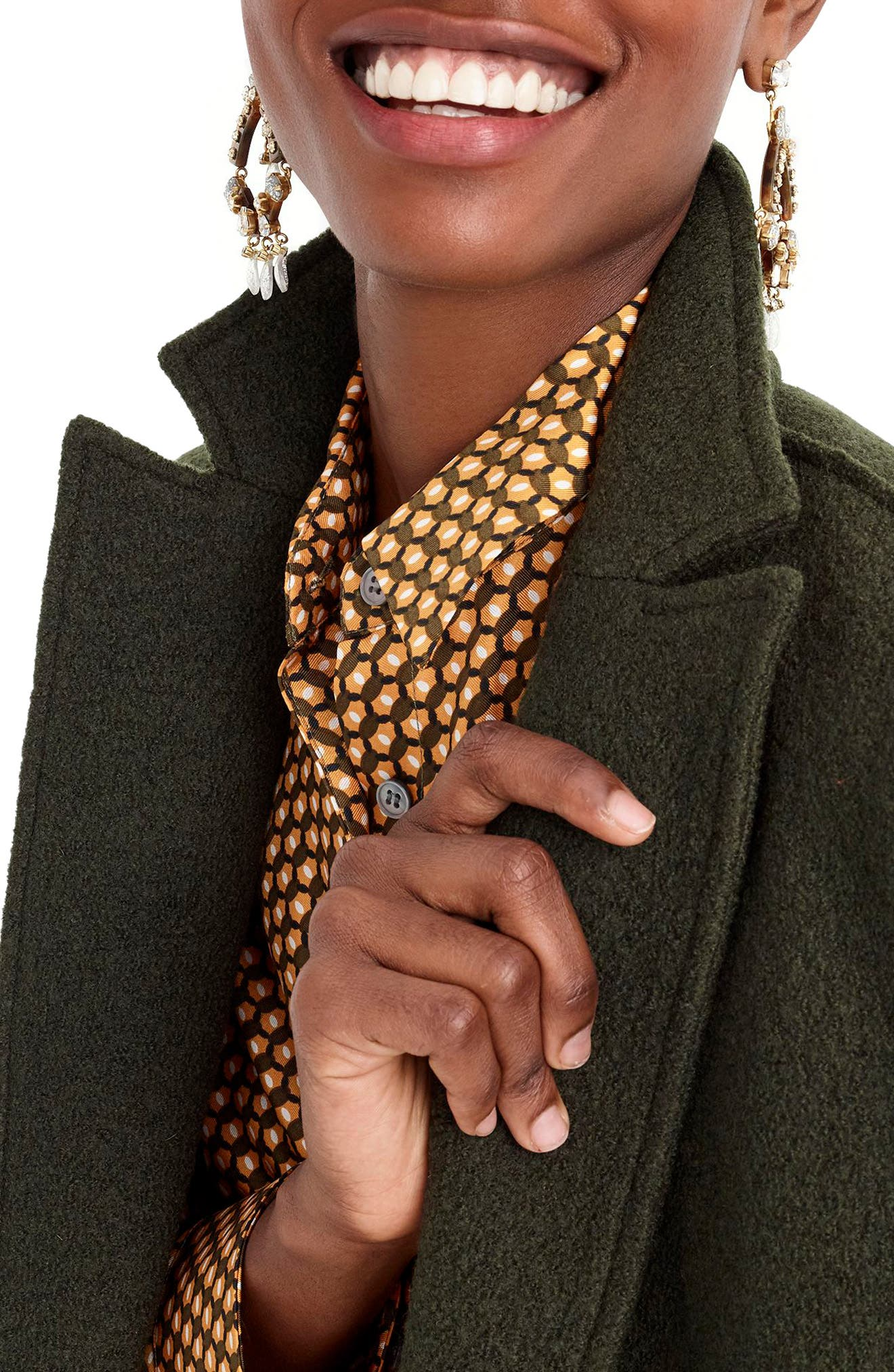 J.CREW,                             Daphne Boiled Wool Topcoat,                             Alternate thumbnail 5, color,                             301