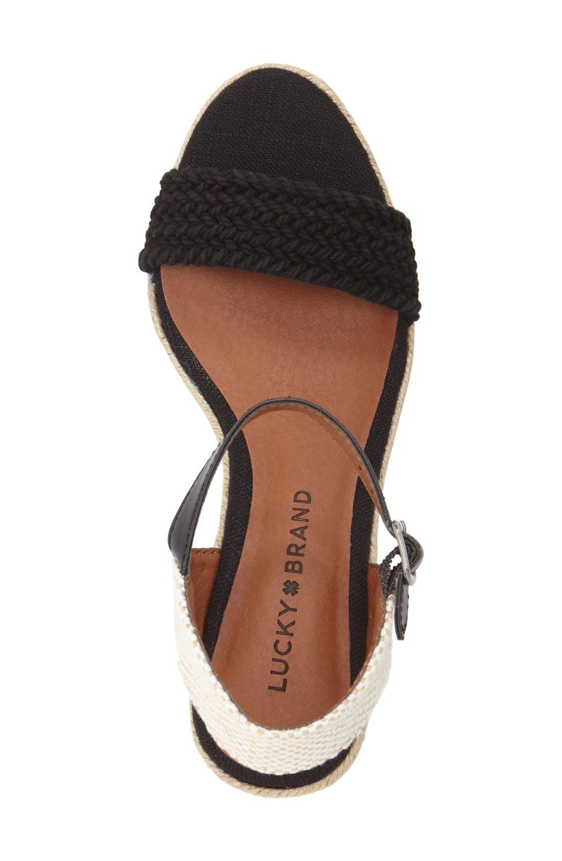 'Katereena' Wedge Sandal,                             Alternate thumbnail 3, color,                             001