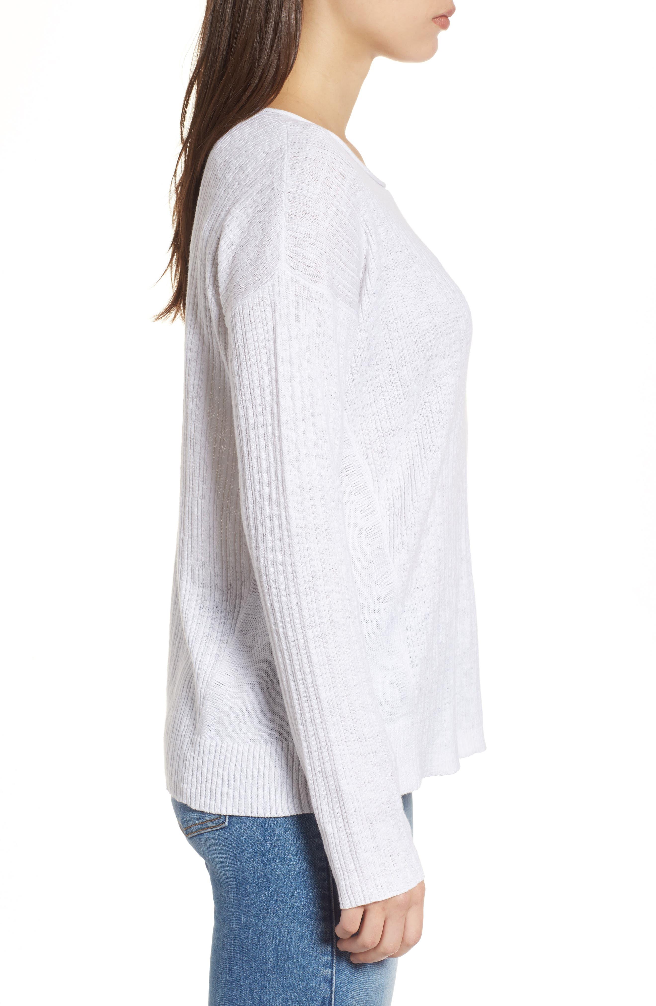 Organic Linen & Cotton Crewneck Sweater,                             Alternate thumbnail 11, color,