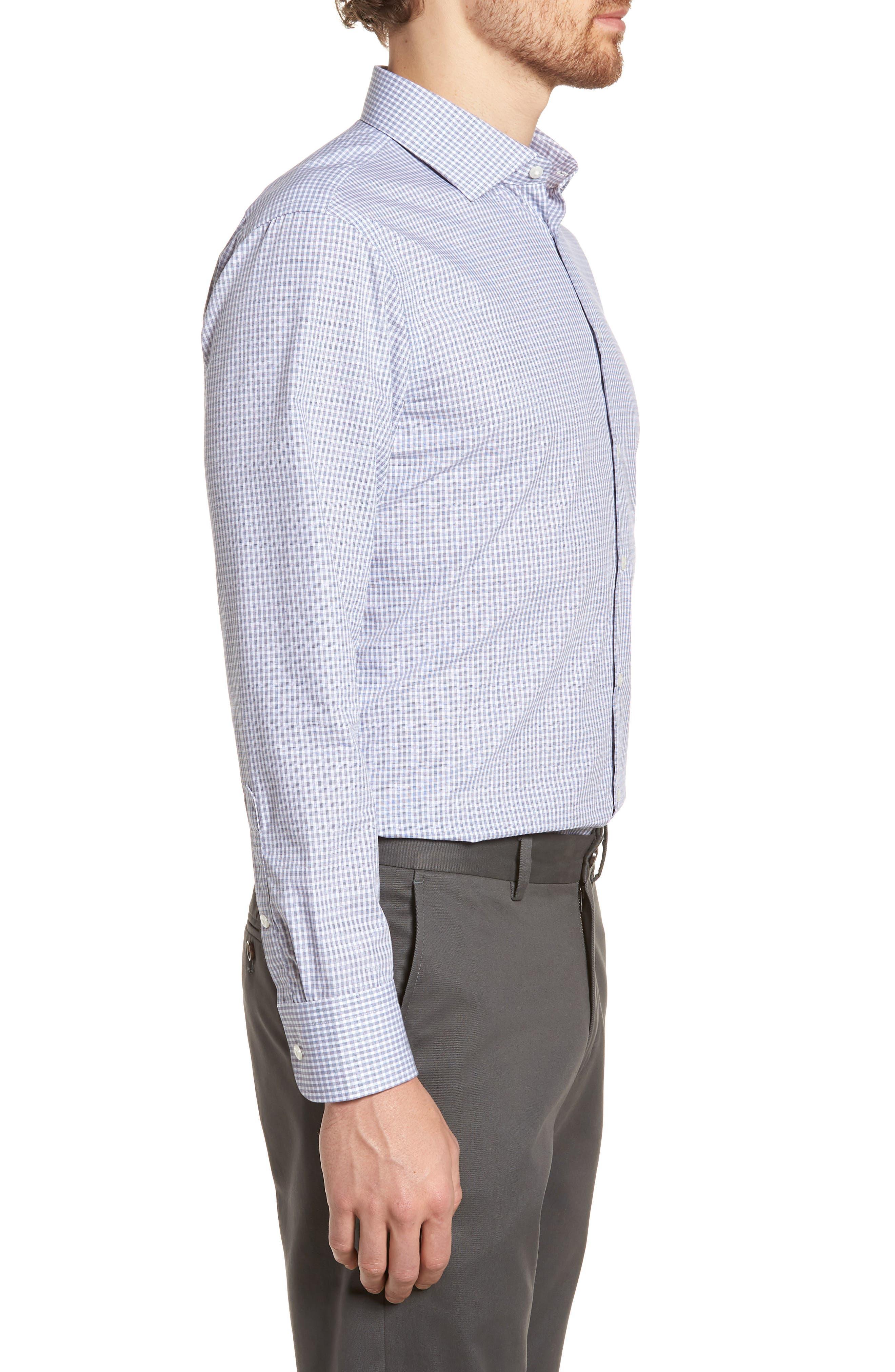 Extra Trim Fit Non-Iron Check Dress Shirt,                             Alternate thumbnail 10, color,