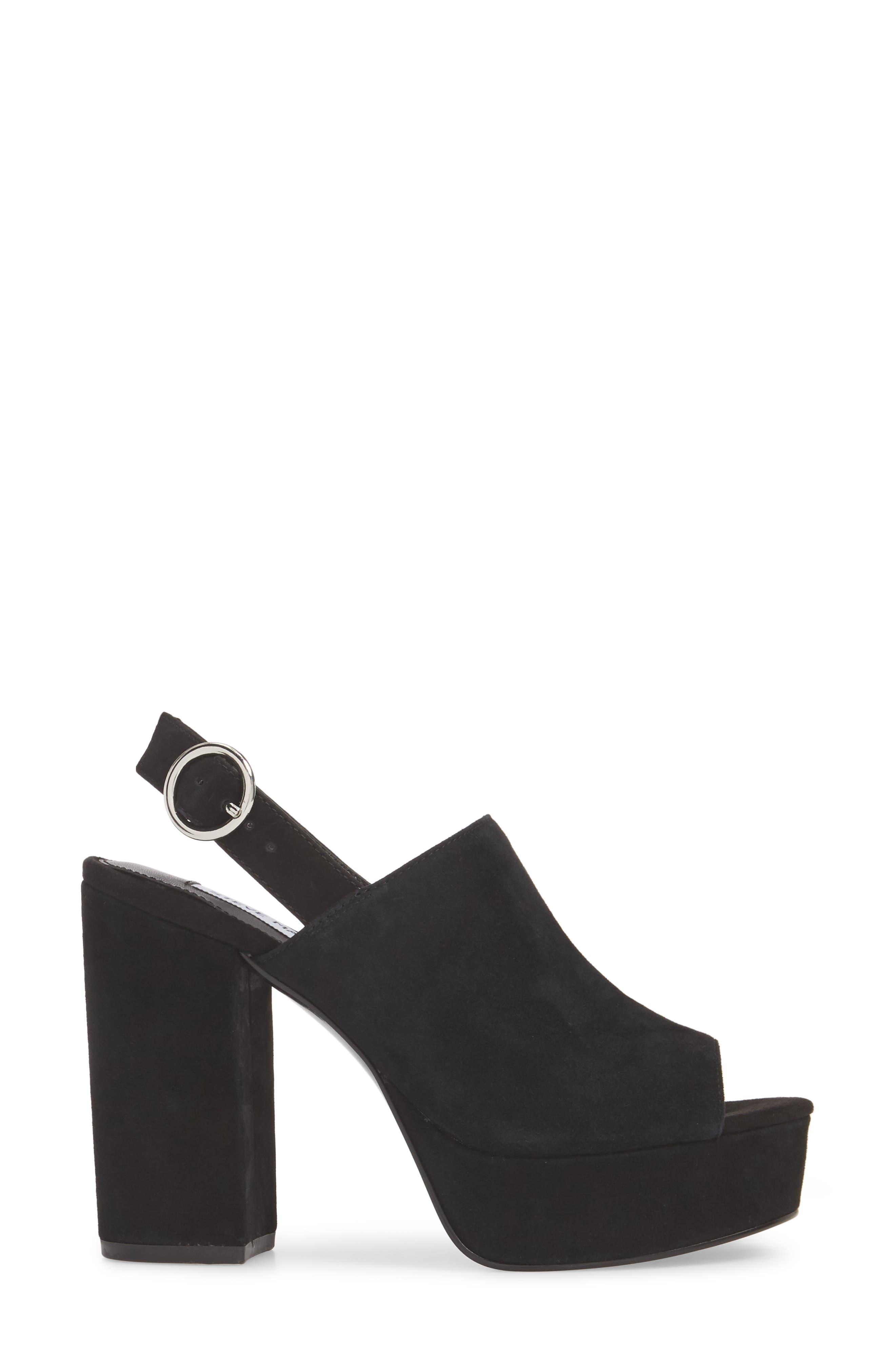 Carter Slingback Platform Sandal,                             Alternate thumbnail 3, color,                             006