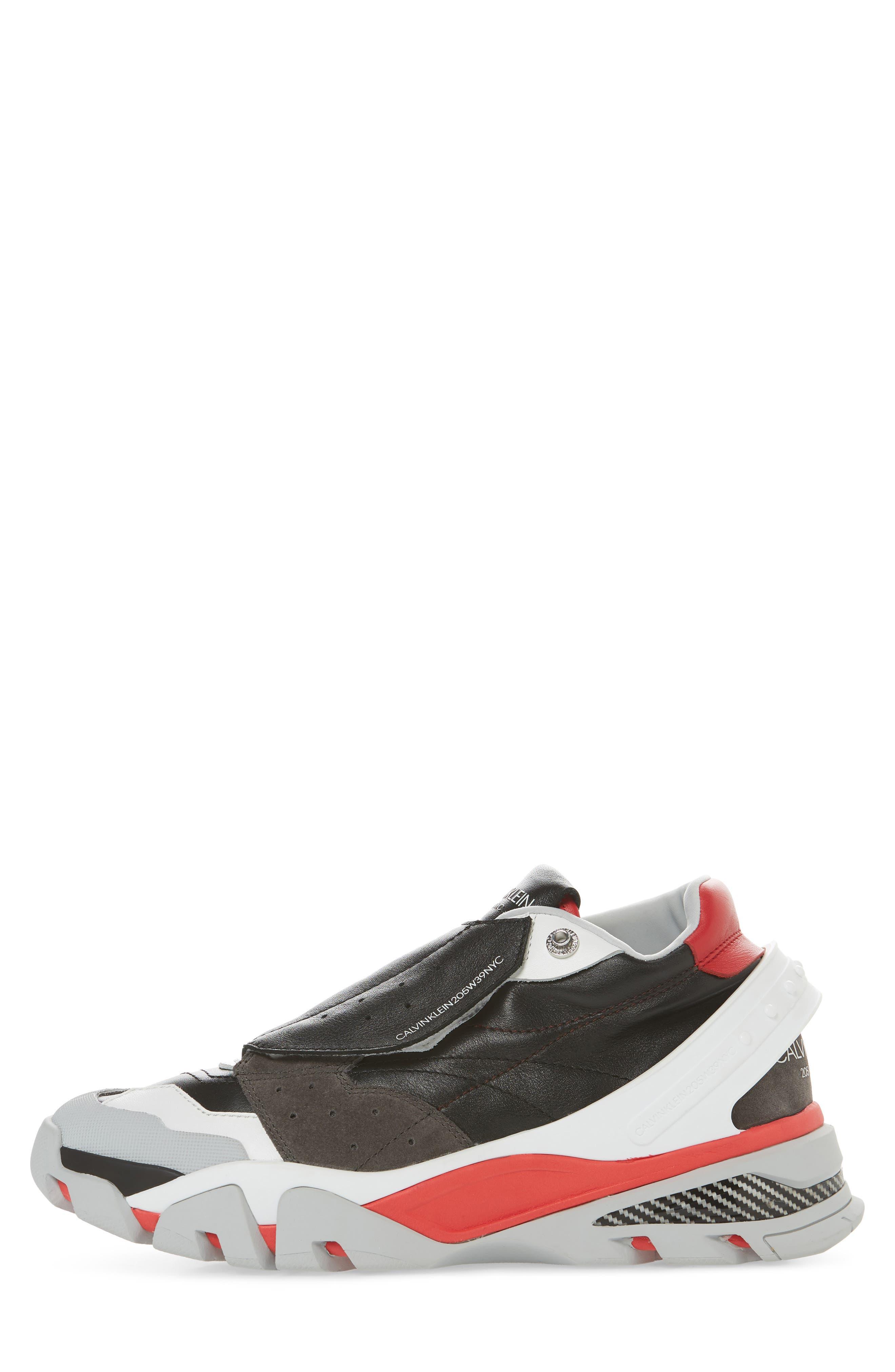 Cander 7 Sneaker,                             Alternate thumbnail 3, color,                             BLACK/ WHITE/ RED/ GREY