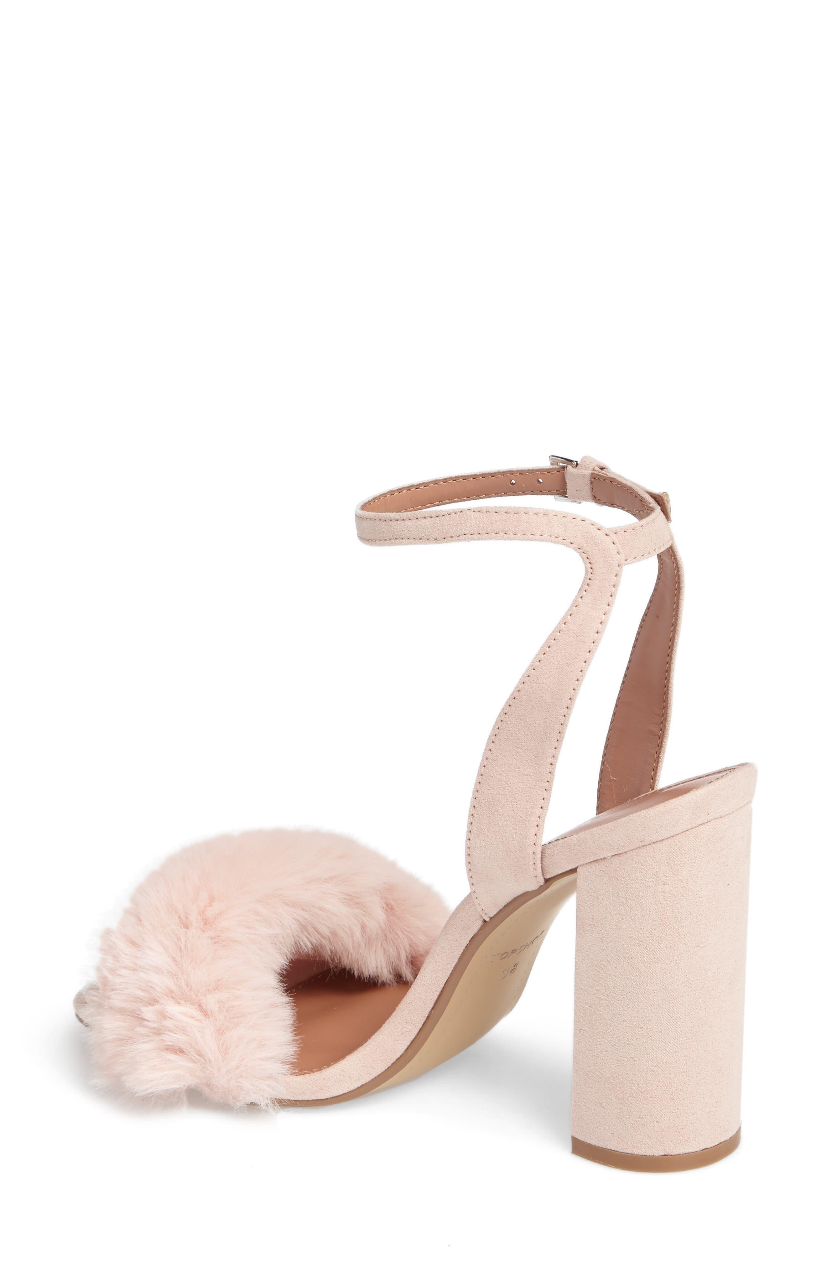 Maison Faux Fur Block Heel Sandal,                             Alternate thumbnail 2, color,                             250
