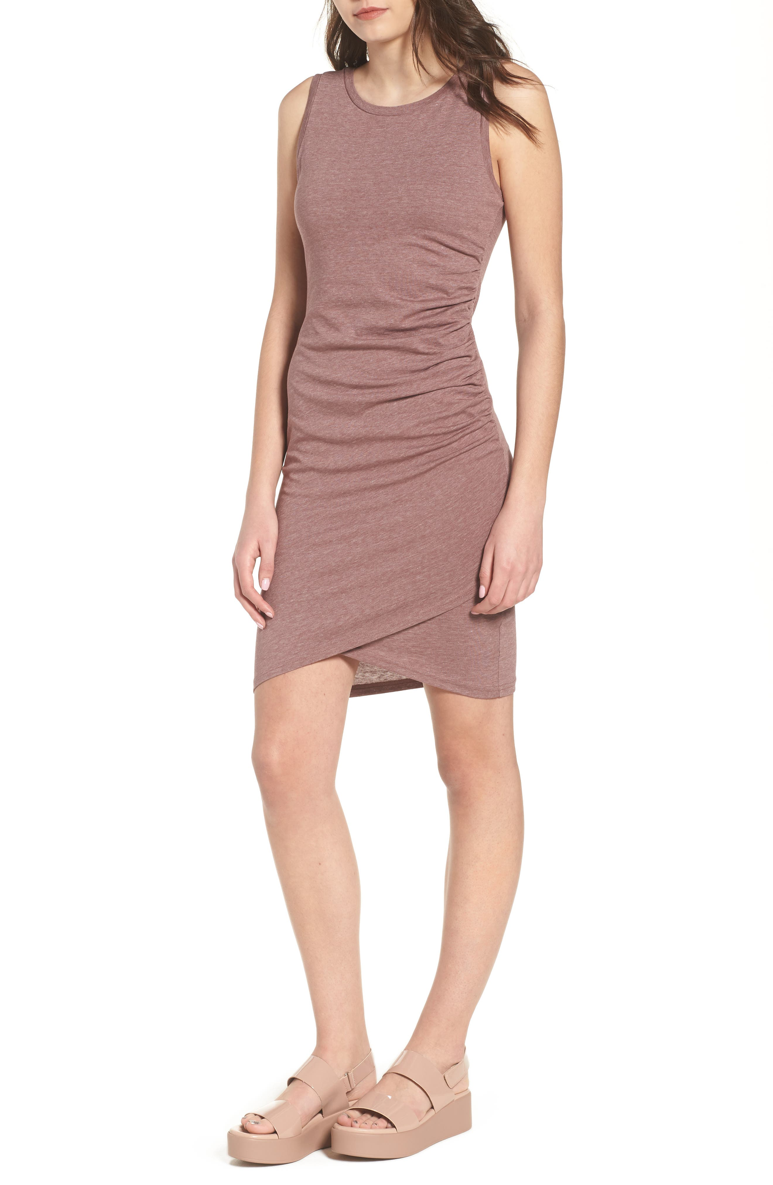 Ruched Body-Con Tank Dress,                             Main thumbnail 11, color,