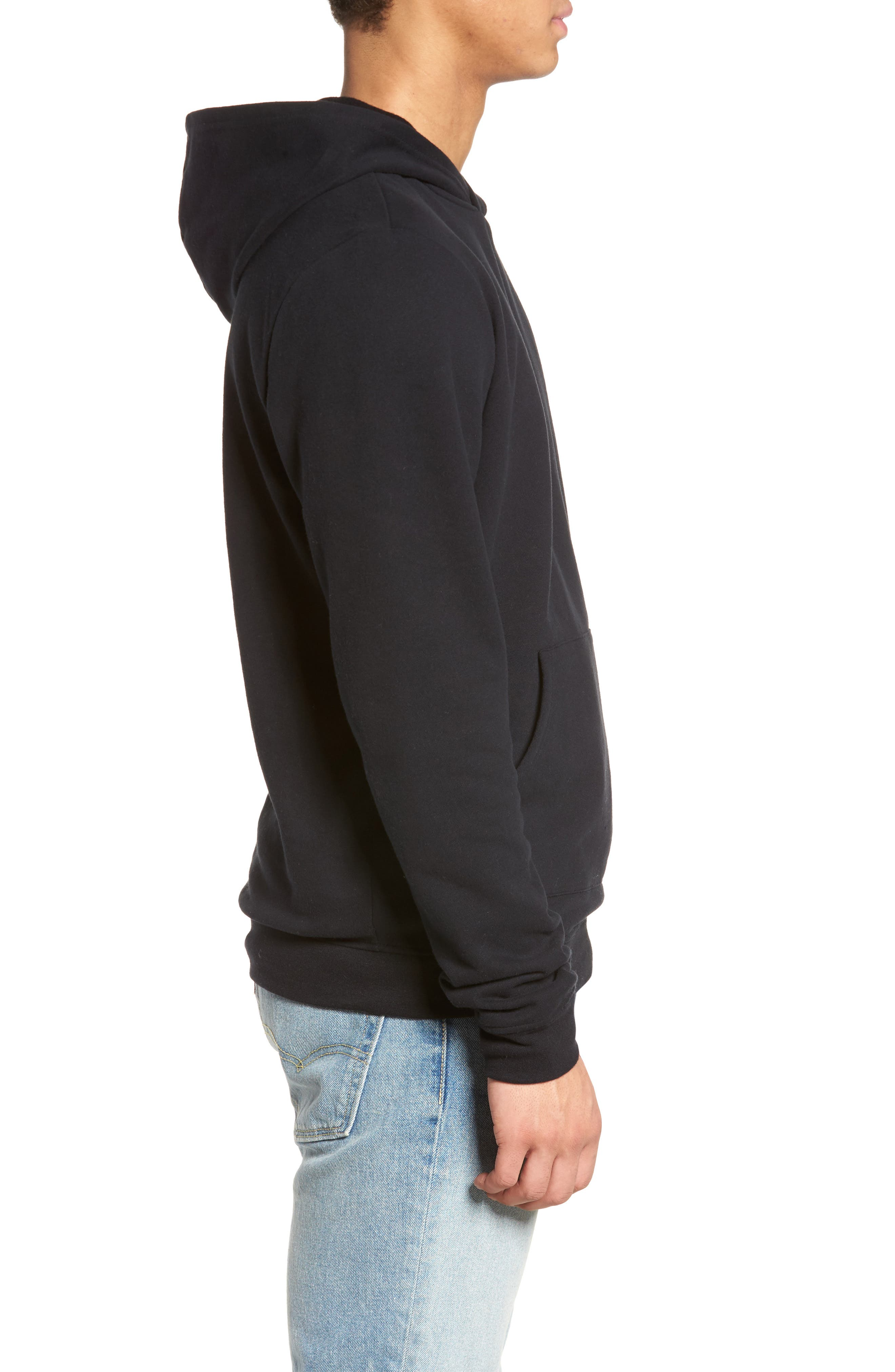 Fleece Hoodie,                             Alternate thumbnail 3, color,                             001