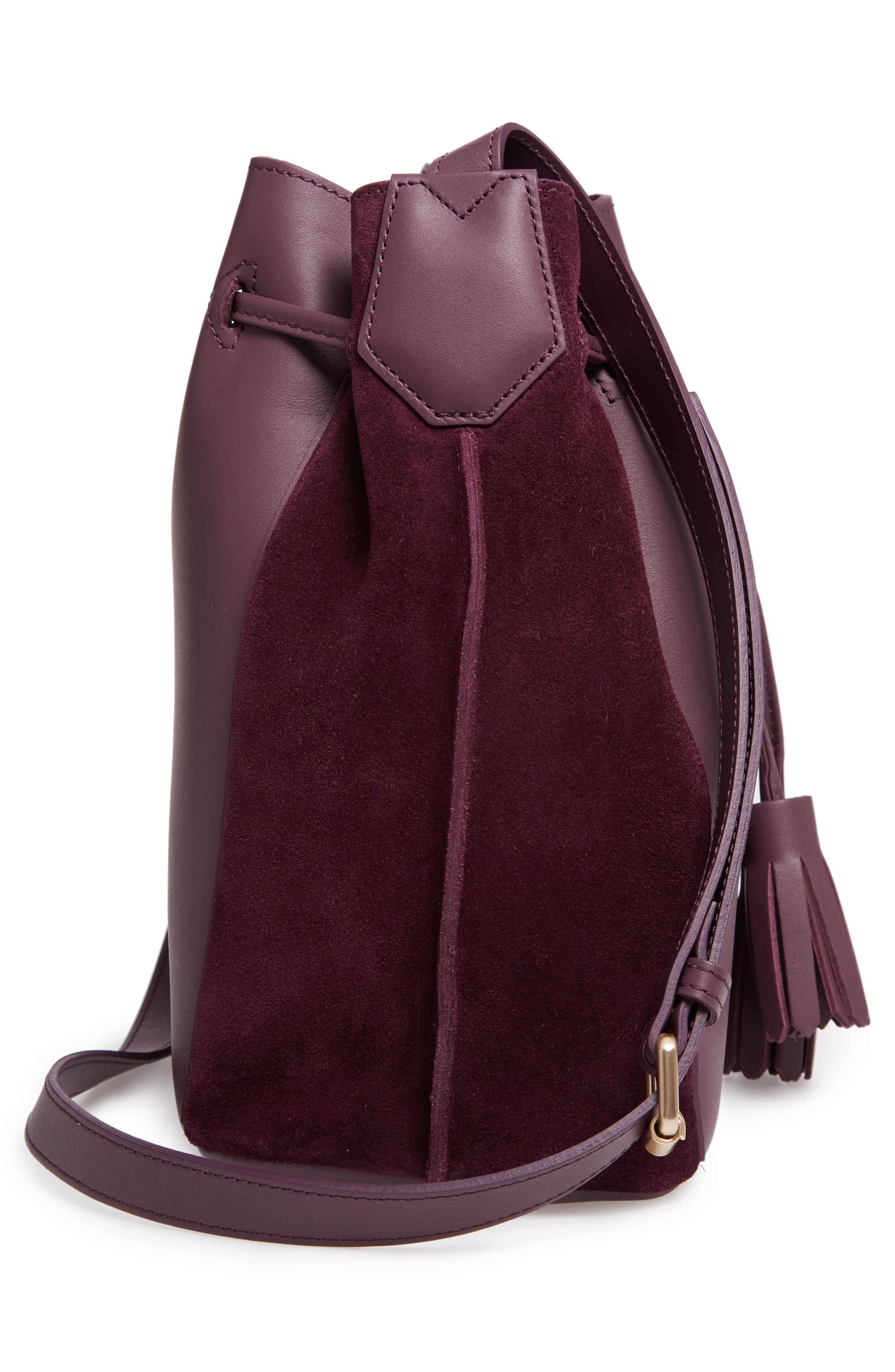 Penelope Fantasie Leather Bucket Bag,                             Alternate thumbnail 13, color,