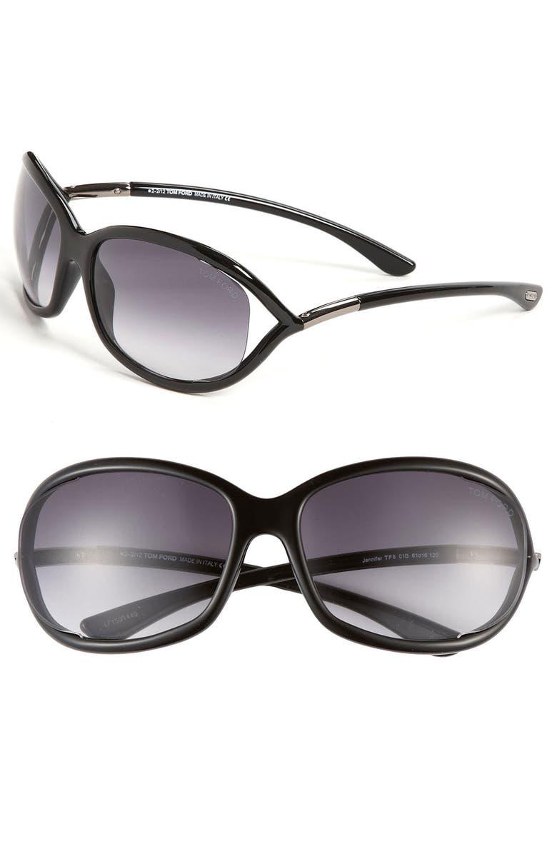 Tom Ford \'Jennifer\' 61mm Oval Oversize Frame Sunglasses | Nordstrom