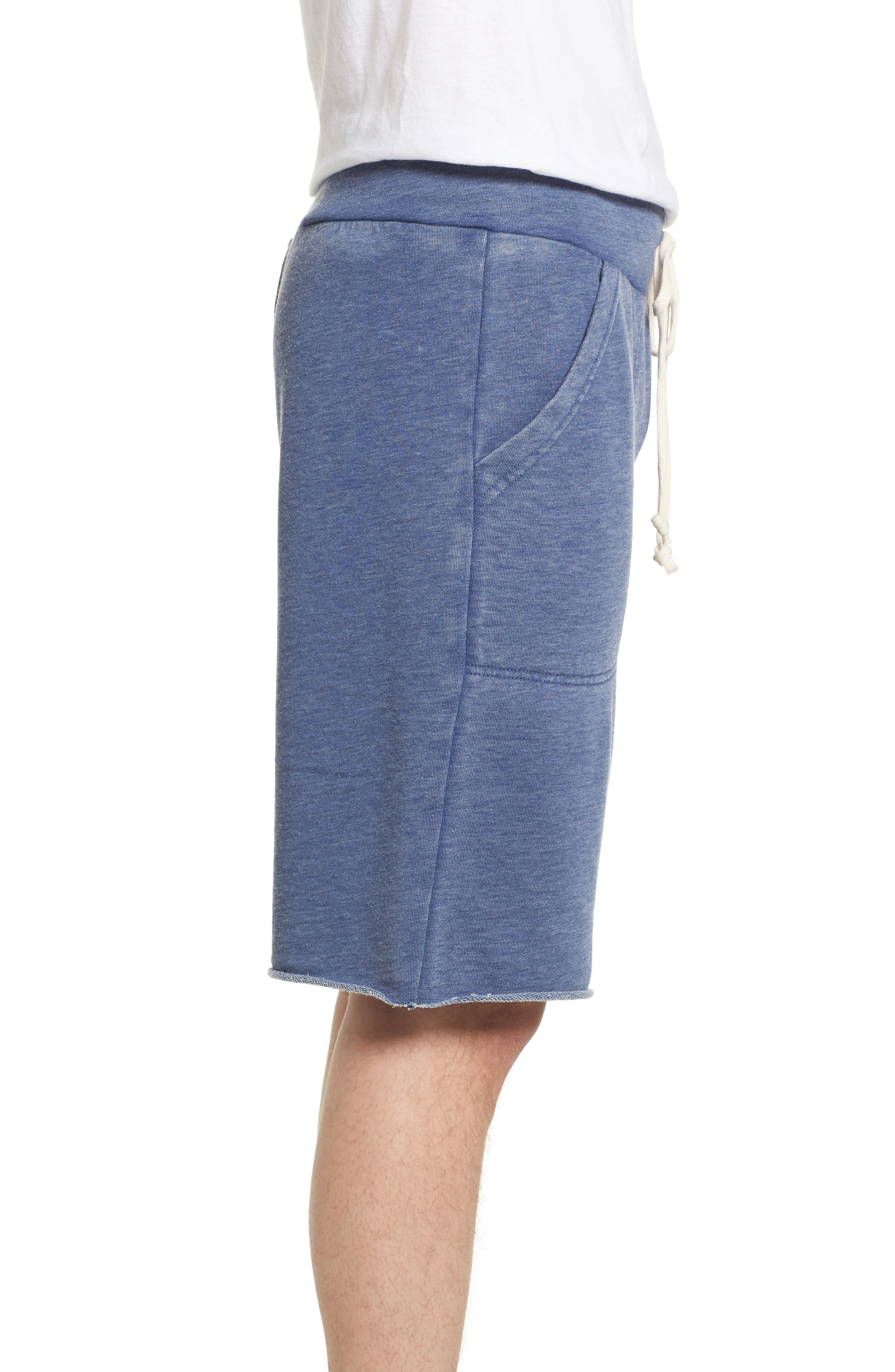 'Victory' French Terry Shorts,                             Alternate thumbnail 3, color,                             NAVY
