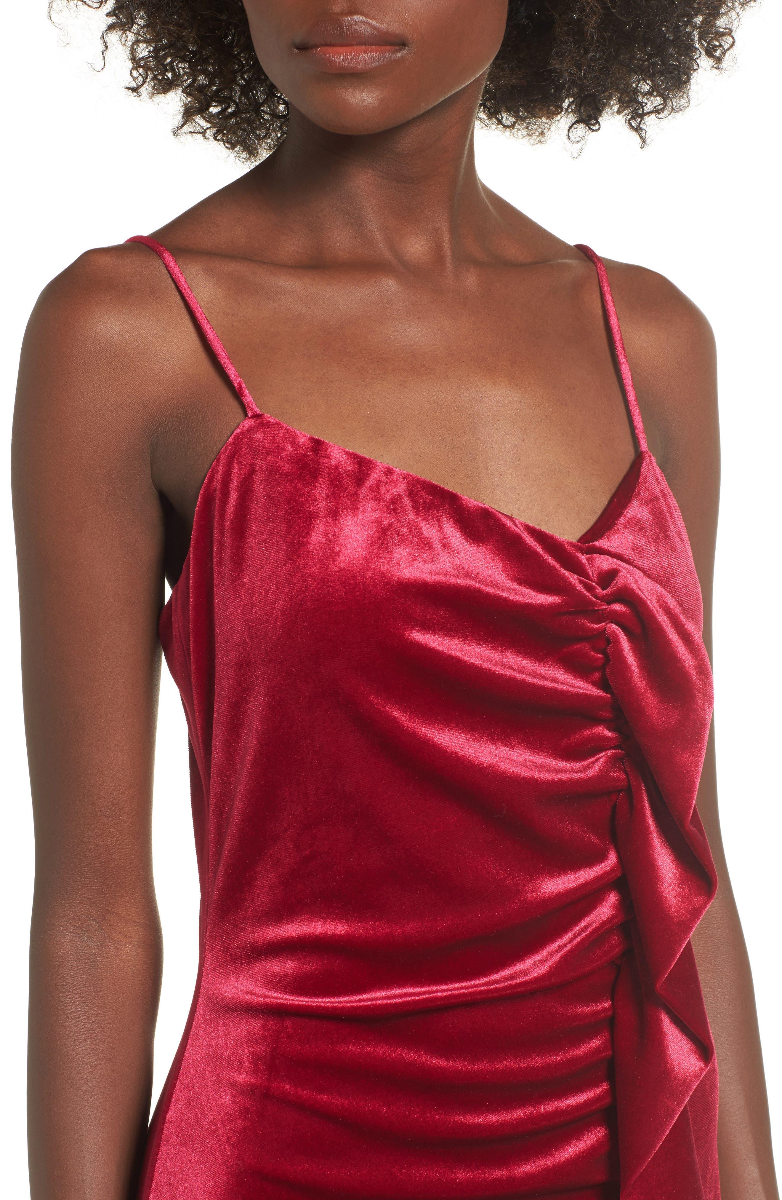 Grace Velvet Sheath Dress,                             Alternate thumbnail 8, color,