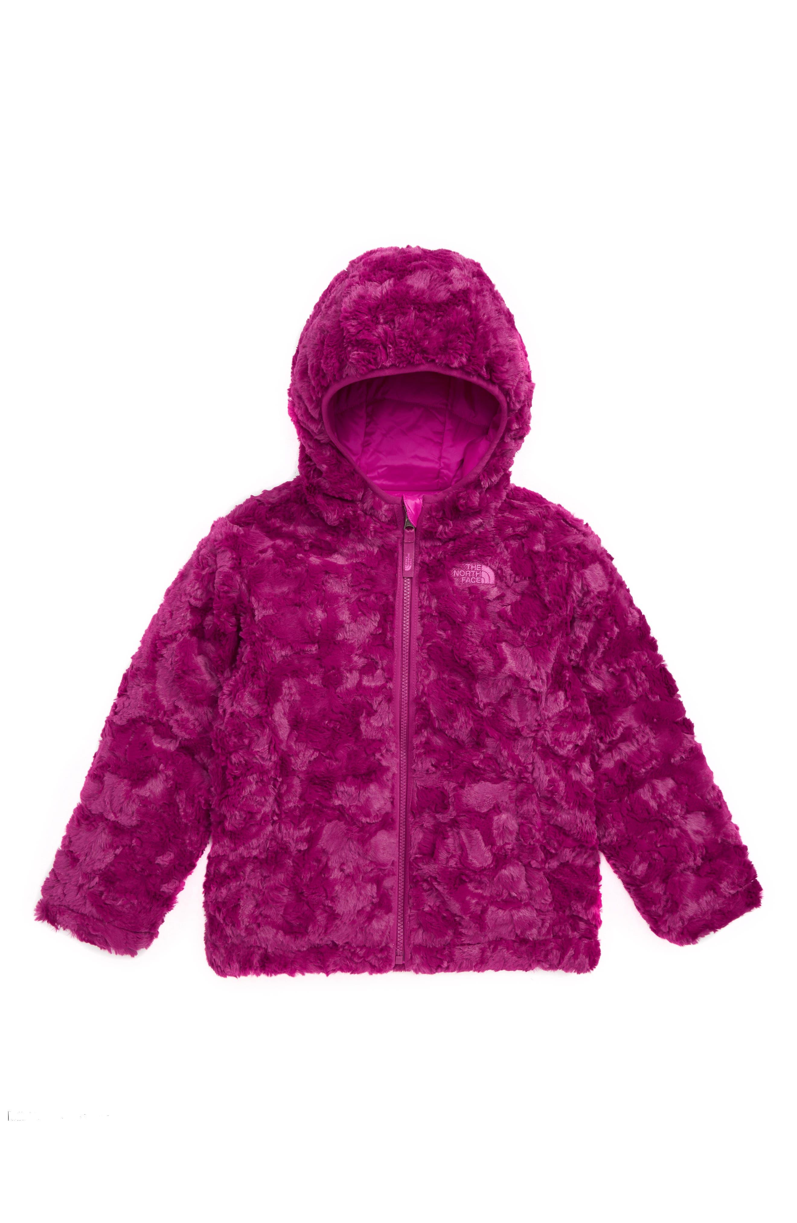 Mossbud Swirl Insulated Reversible Jacket,                             Alternate thumbnail 2, color,                             AZALEA PINK/ DRAMATIC PLUM