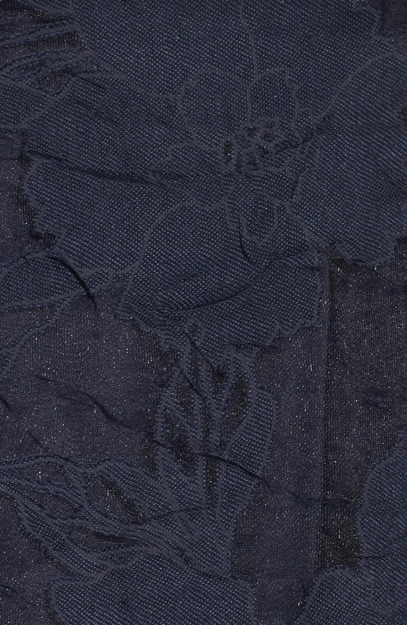 Lace Fit & Flare Dress,                             Alternate thumbnail 6, color,