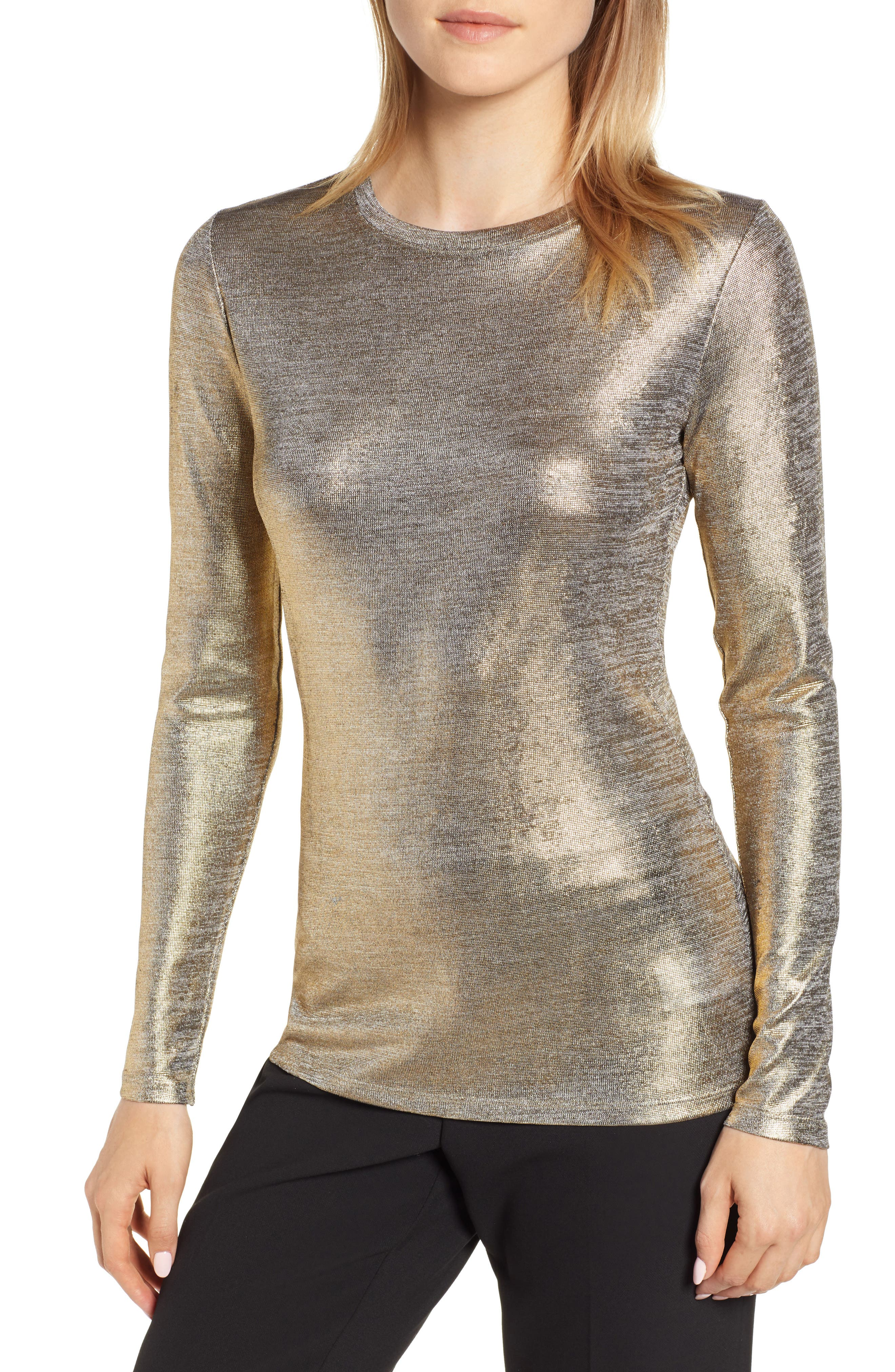 Foiled Jersey Top, Main, color, 710