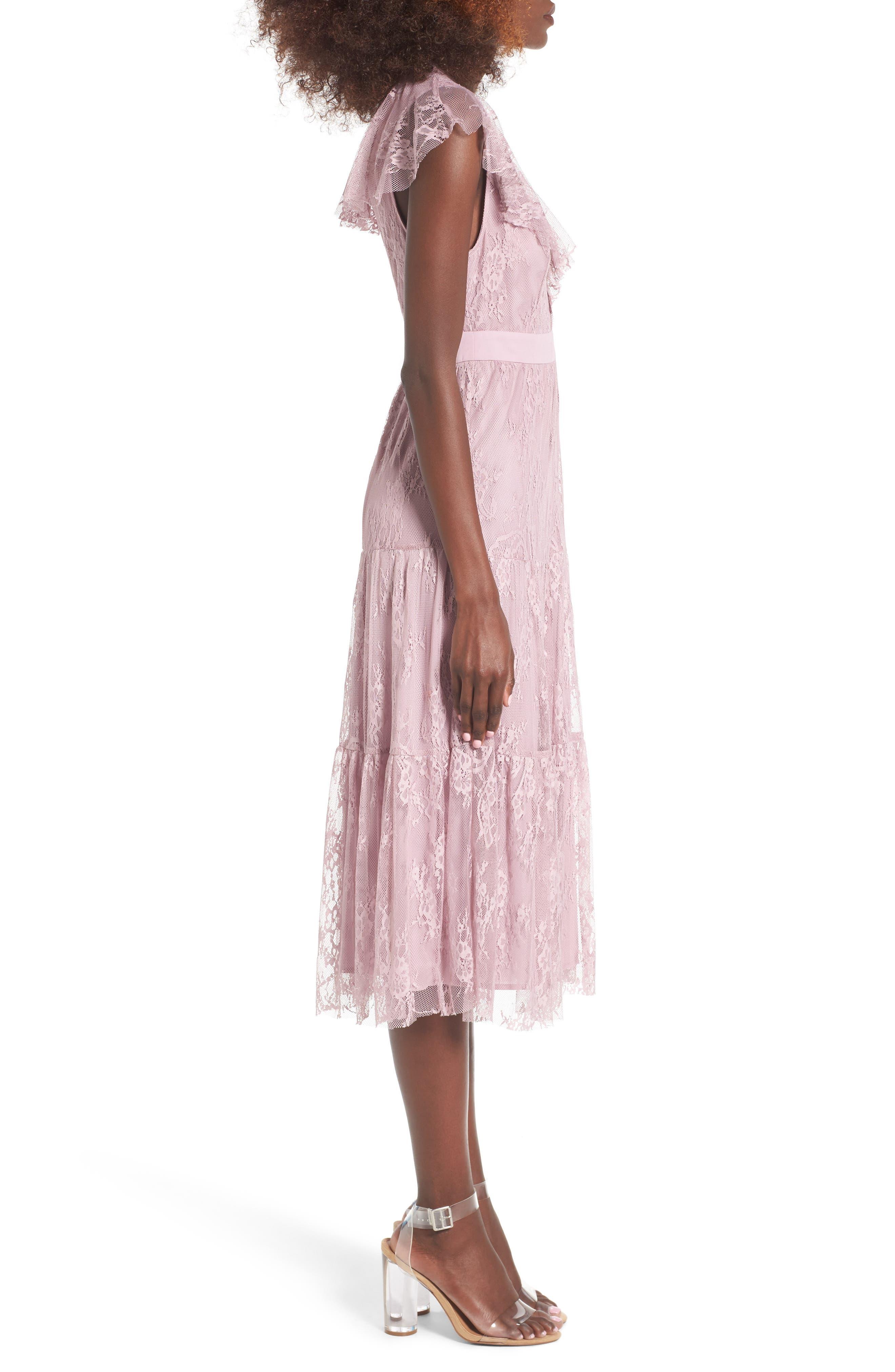 Hadley Lace Midi Dress,                             Alternate thumbnail 3, color,                             532