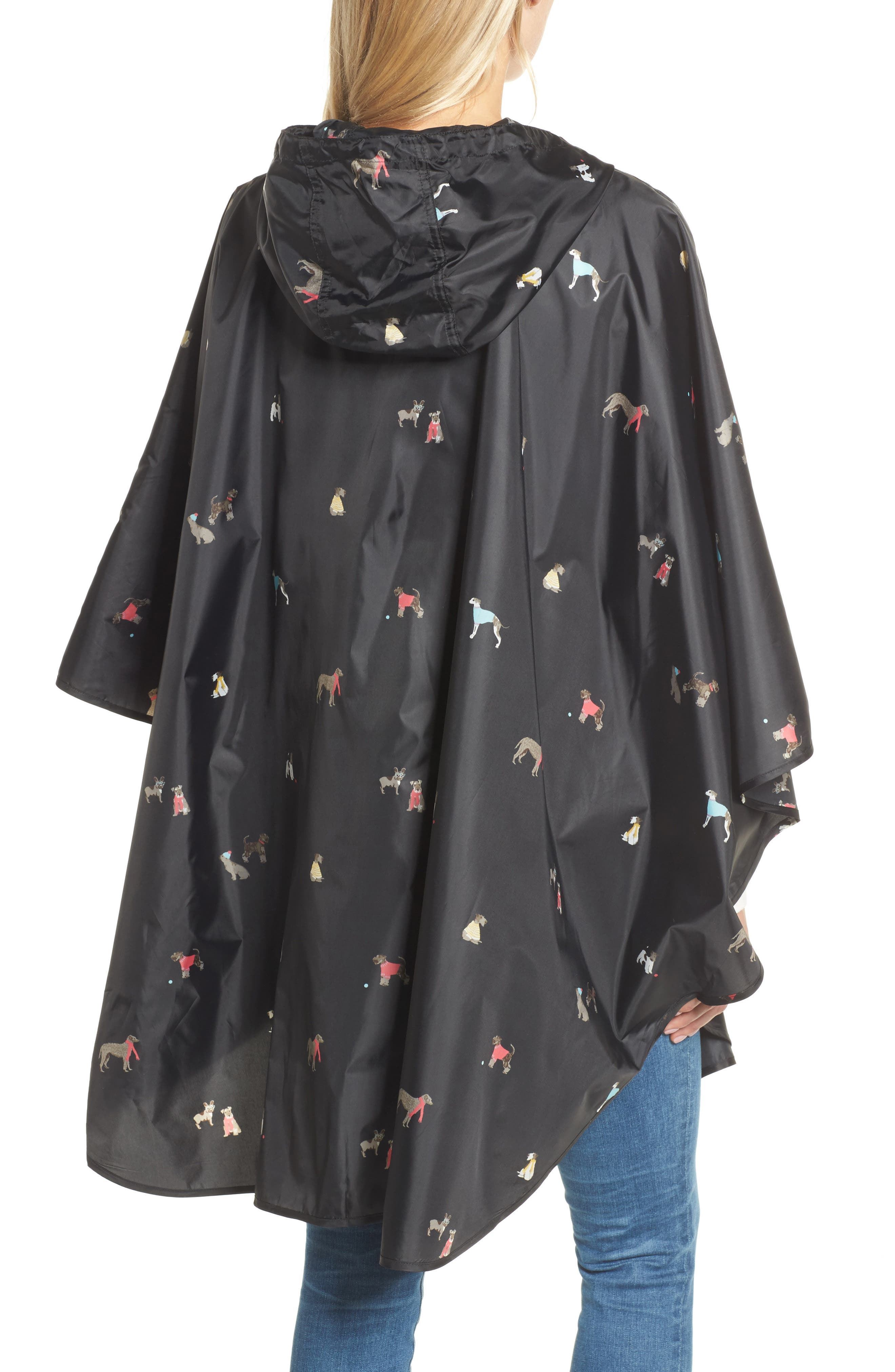 Right as Rain Print Packable Hooded Poncho,                             Alternate thumbnail 2, color,                             015
