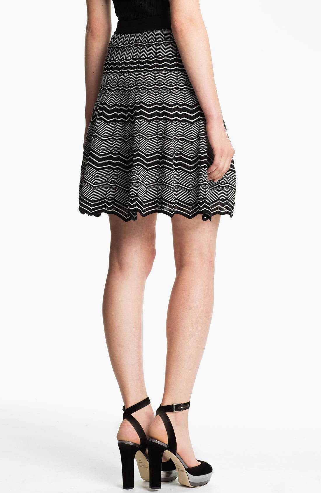 Micro Zigzag Pleat Skirt,                             Alternate thumbnail 2, color,                             001