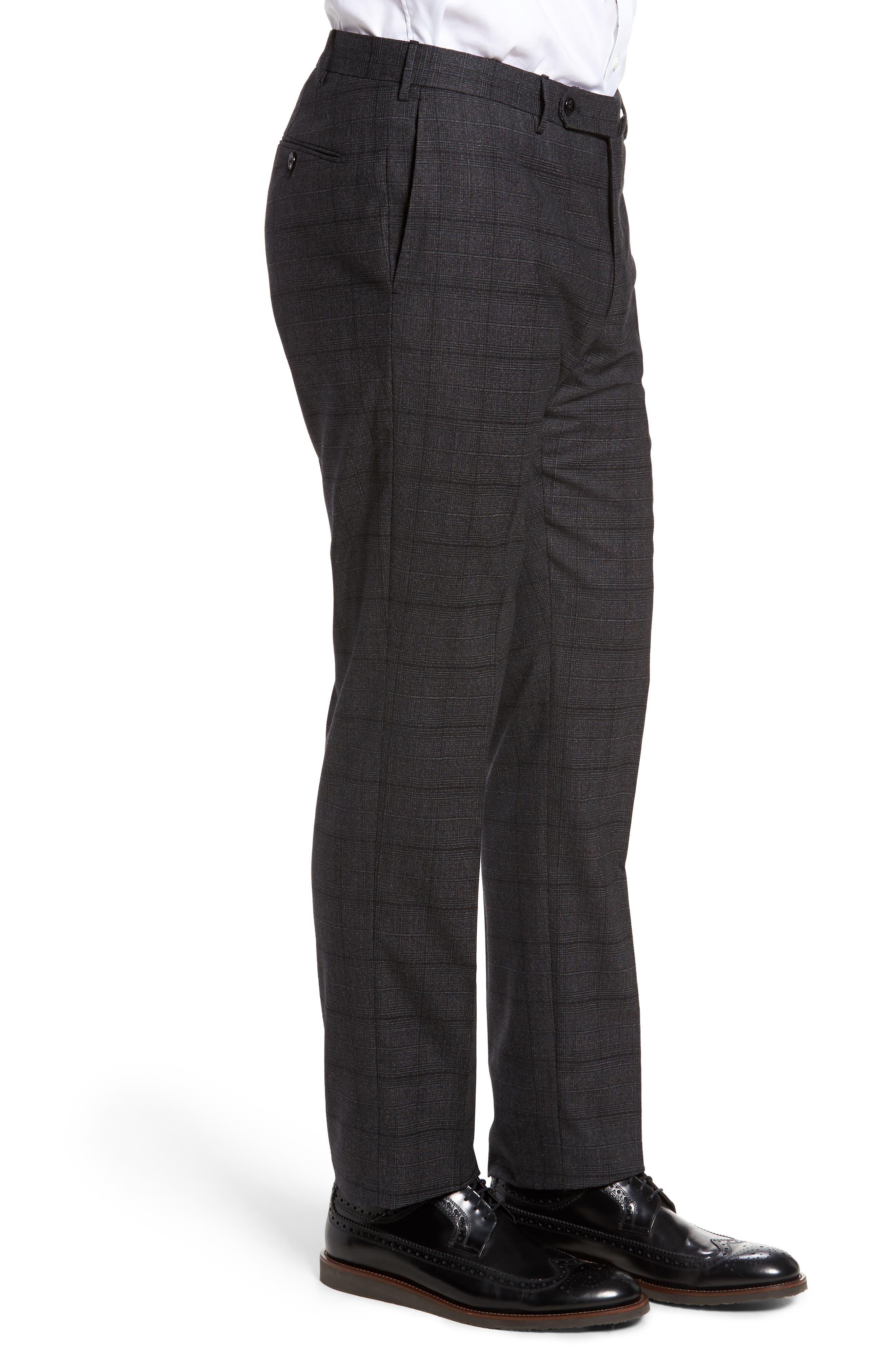 Benson Flat Front Trousers,                             Alternate thumbnail 4, color,                             015