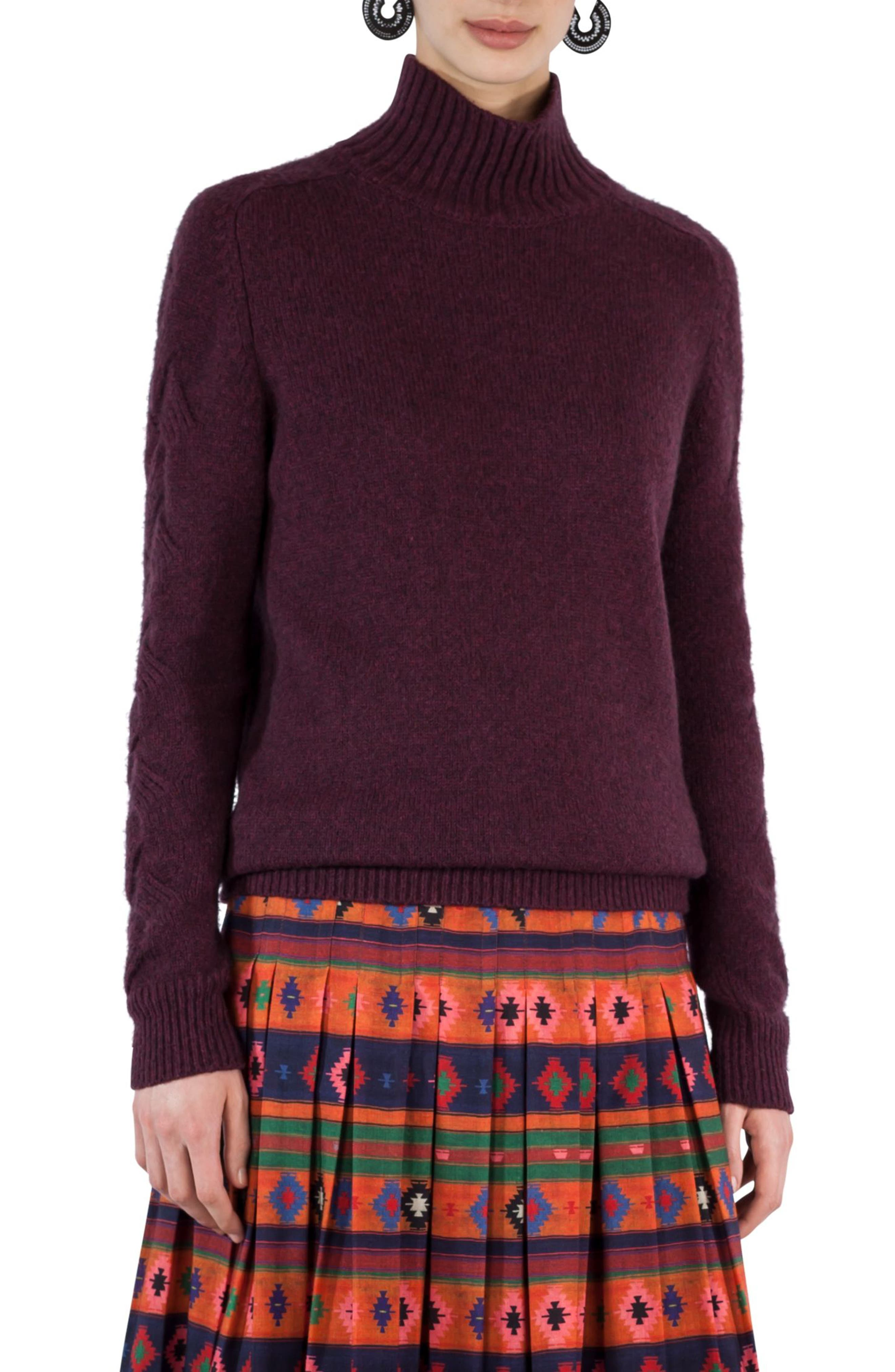 Wool Blend Turtleneck Sweater,                             Main thumbnail 1, color,                             930
