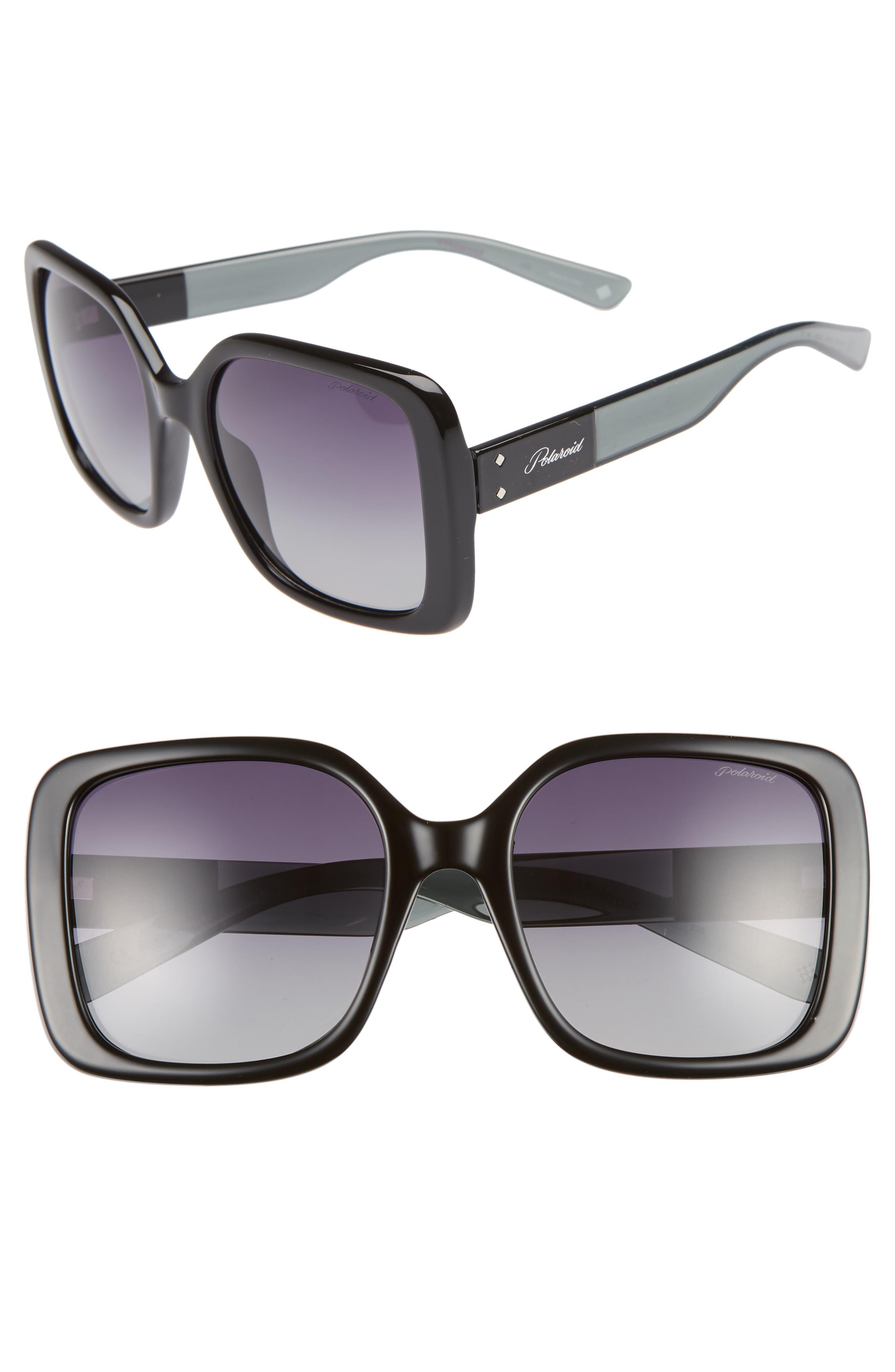 Polaroid 55Mm Polarized Square Sunglasses -