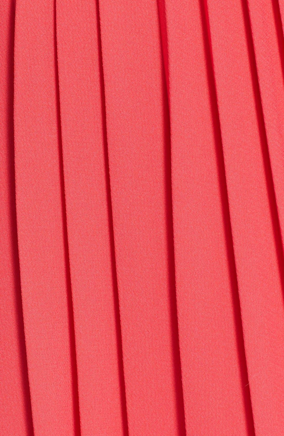 pleated crepe midi skirt,                             Alternate thumbnail 4, color,
