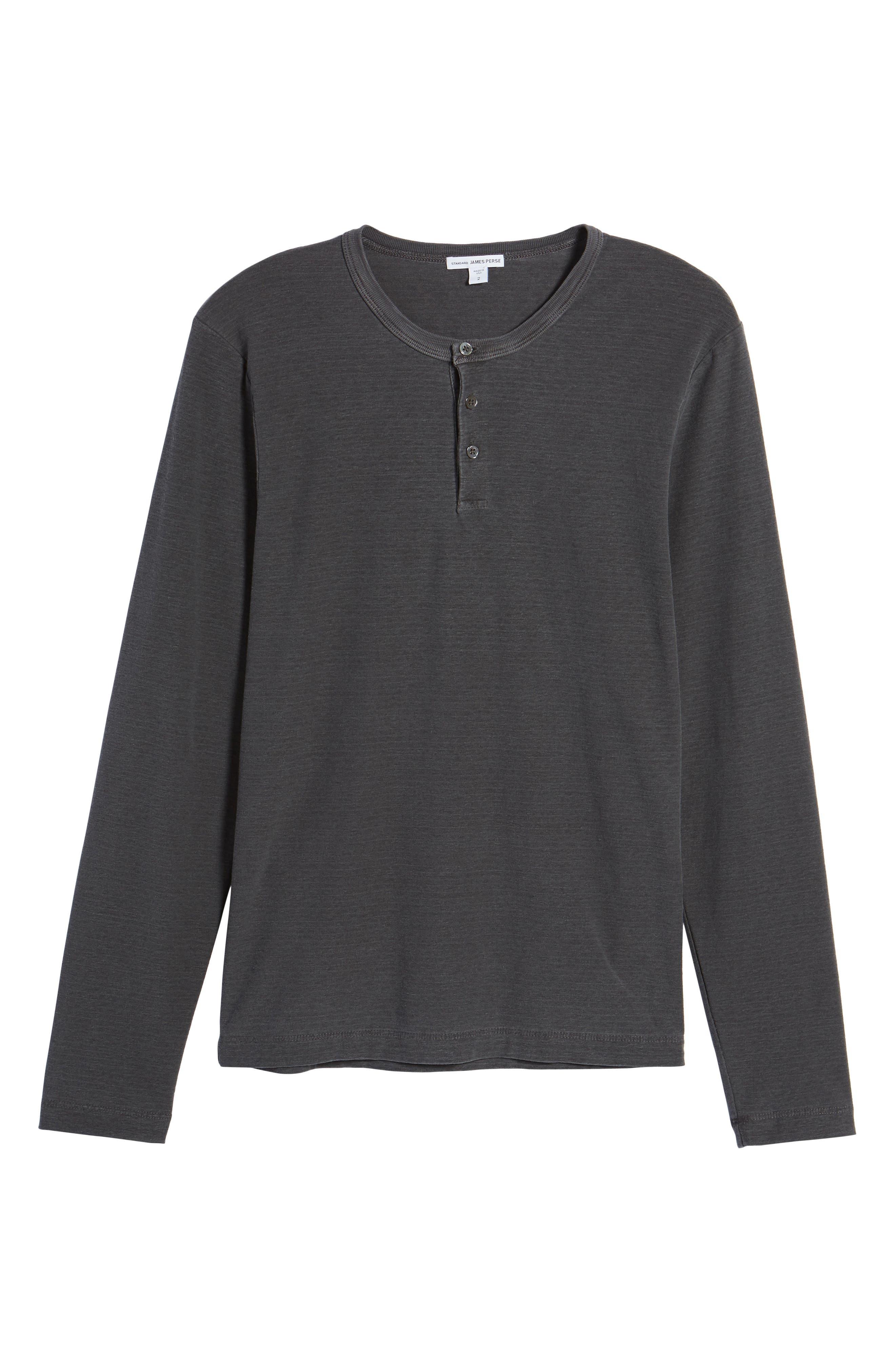 Regular Fit Micro Stripe Henley Shirt,                             Alternate thumbnail 6, color,                             020